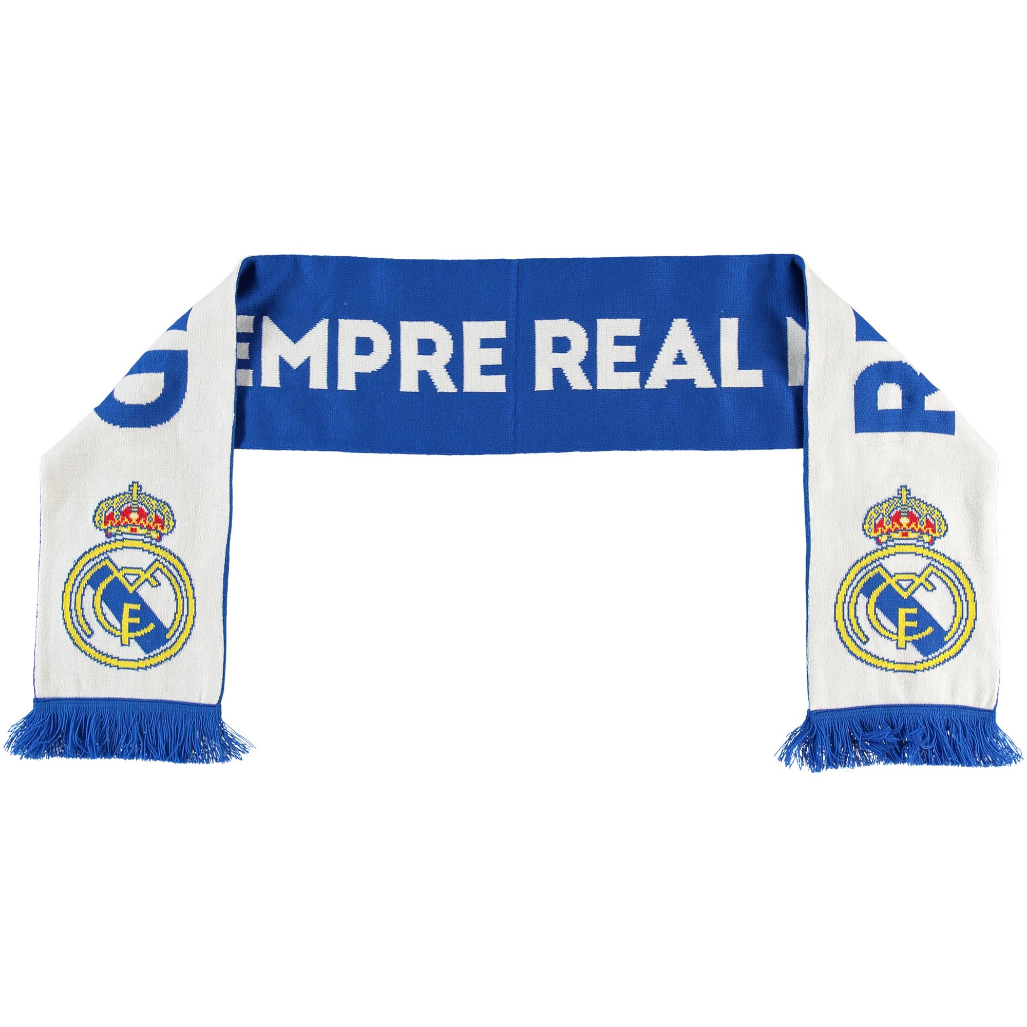 Écharpe réversible en tricot Real Madrid - Bleu/Blanc - Adulte