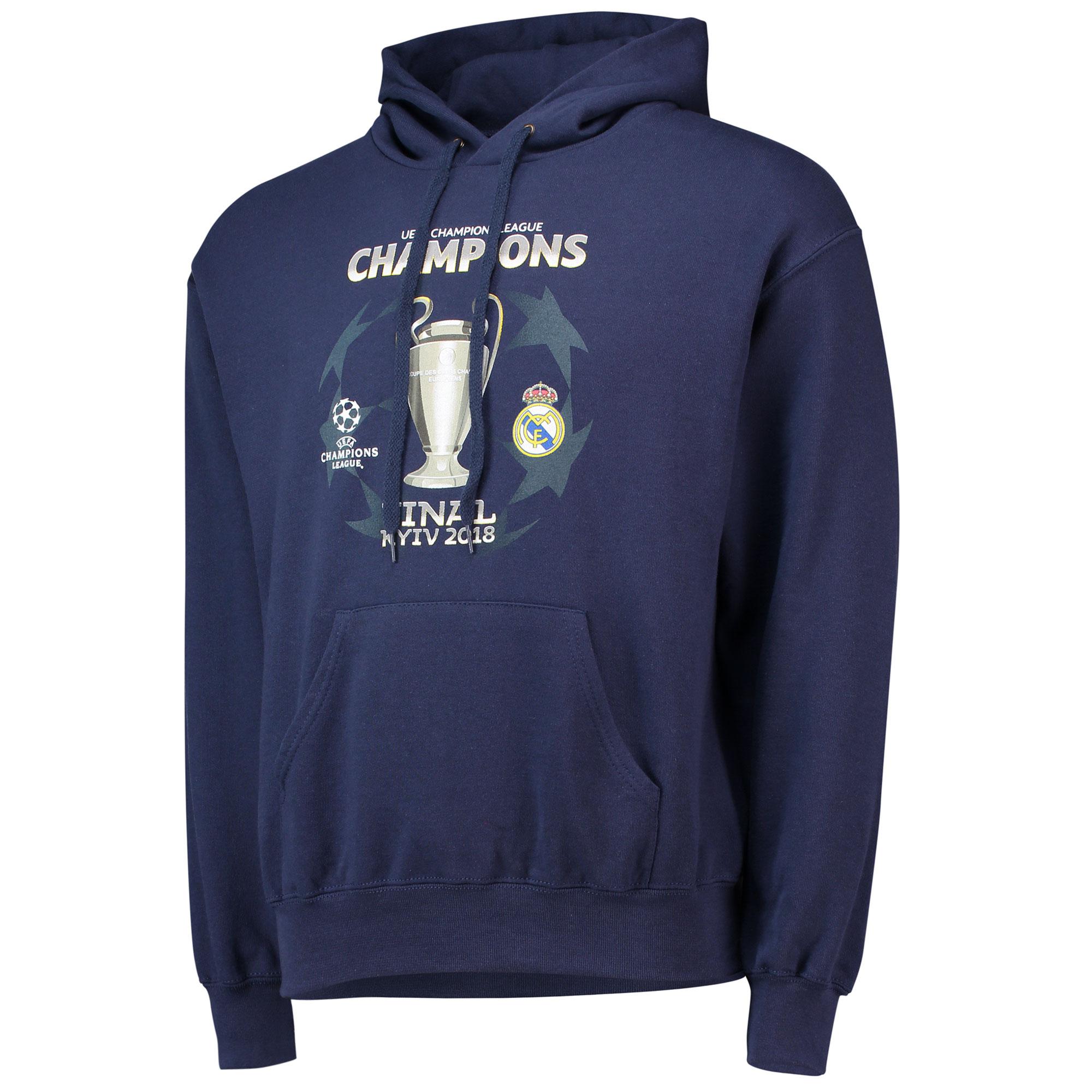 Sweat à capuche Ligue des champions UEFA - Bleu marine - Homme