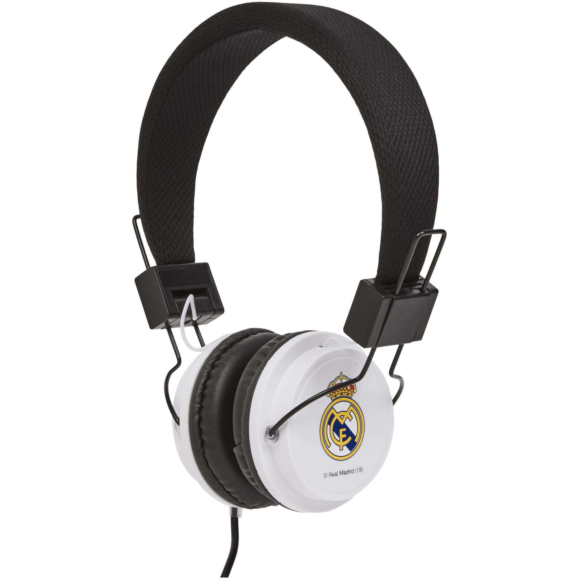 Club Branded / Auriculares del Real Madrid en negro y blanco