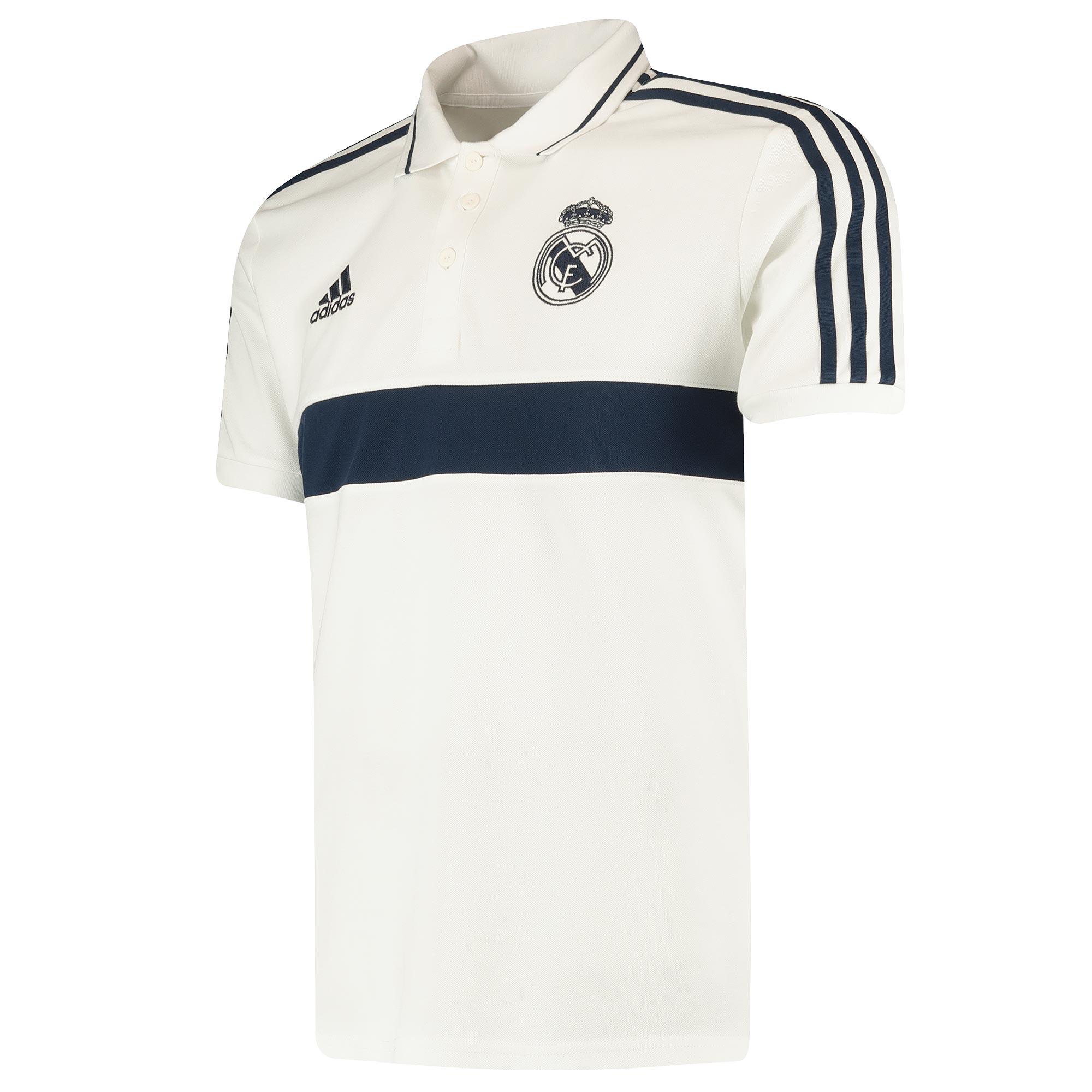 Polo informal del Real Madrid blanco