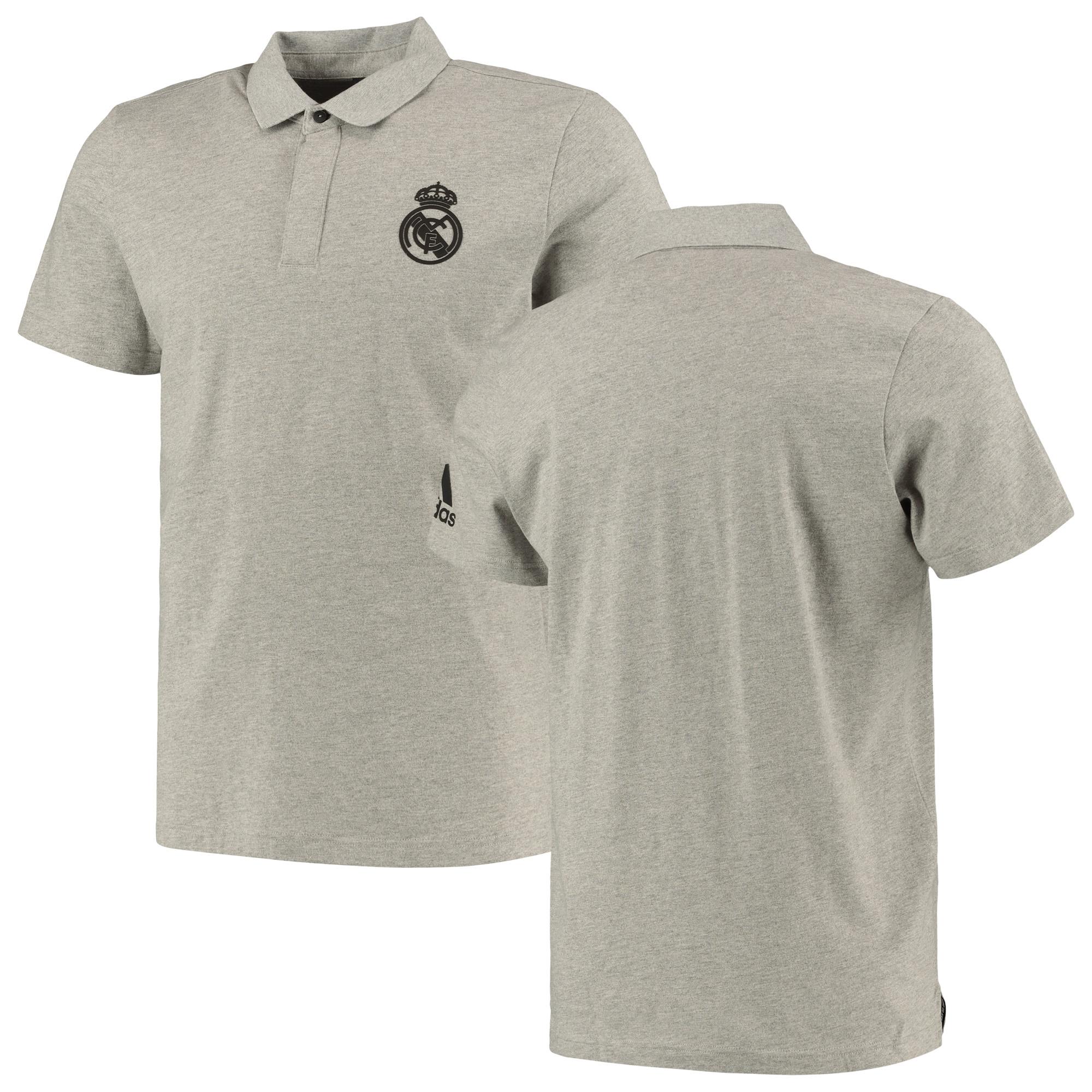 Polo de viaje del Real Madrid en gris