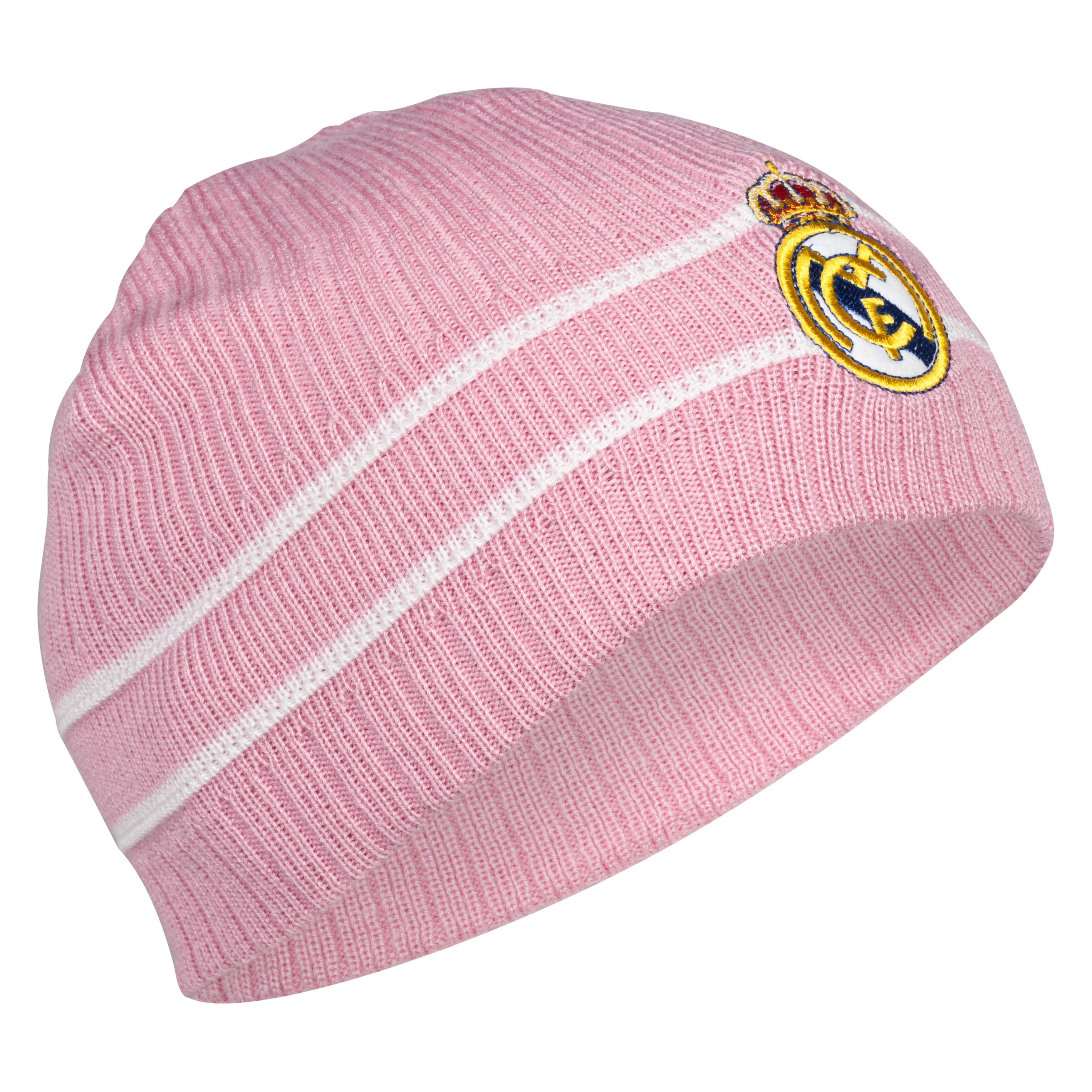 Real Madrid Crest Beanie - Pink - Womens