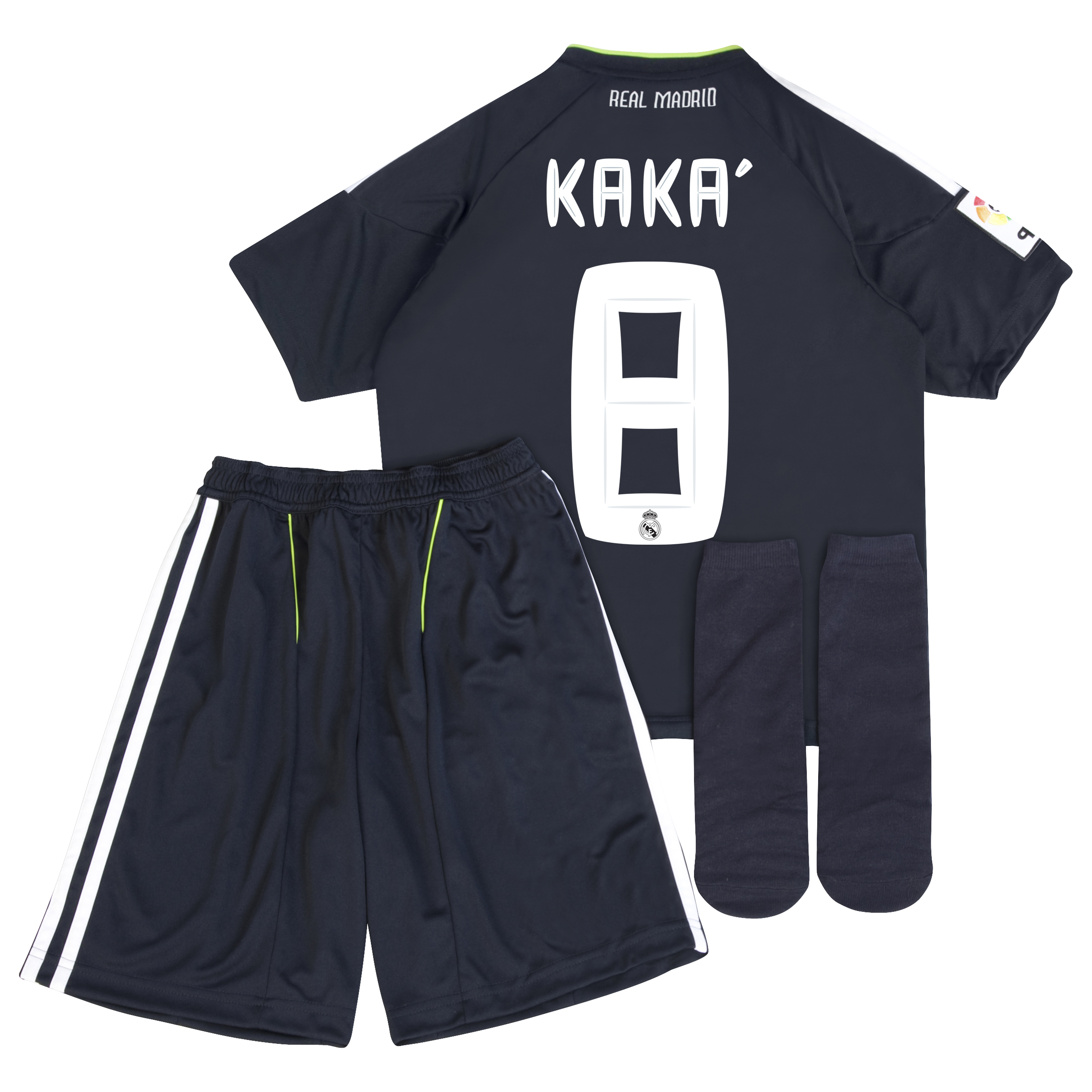 Real Madrid Away Minikit Pack 2010/11 with Kaka 8 printing