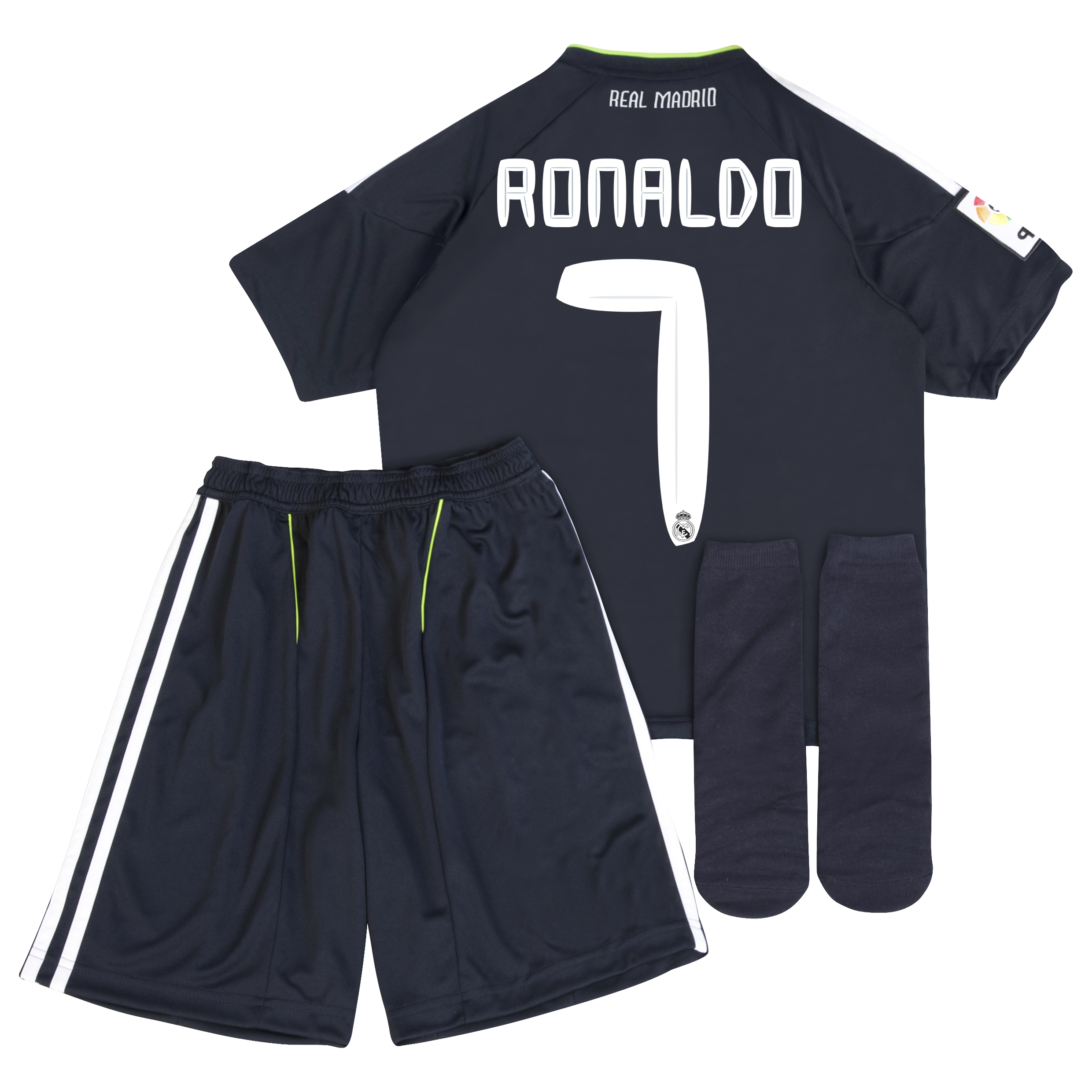 Real Madrid Away Minikit Pack 2010/11 with Ronaldo 7 printing