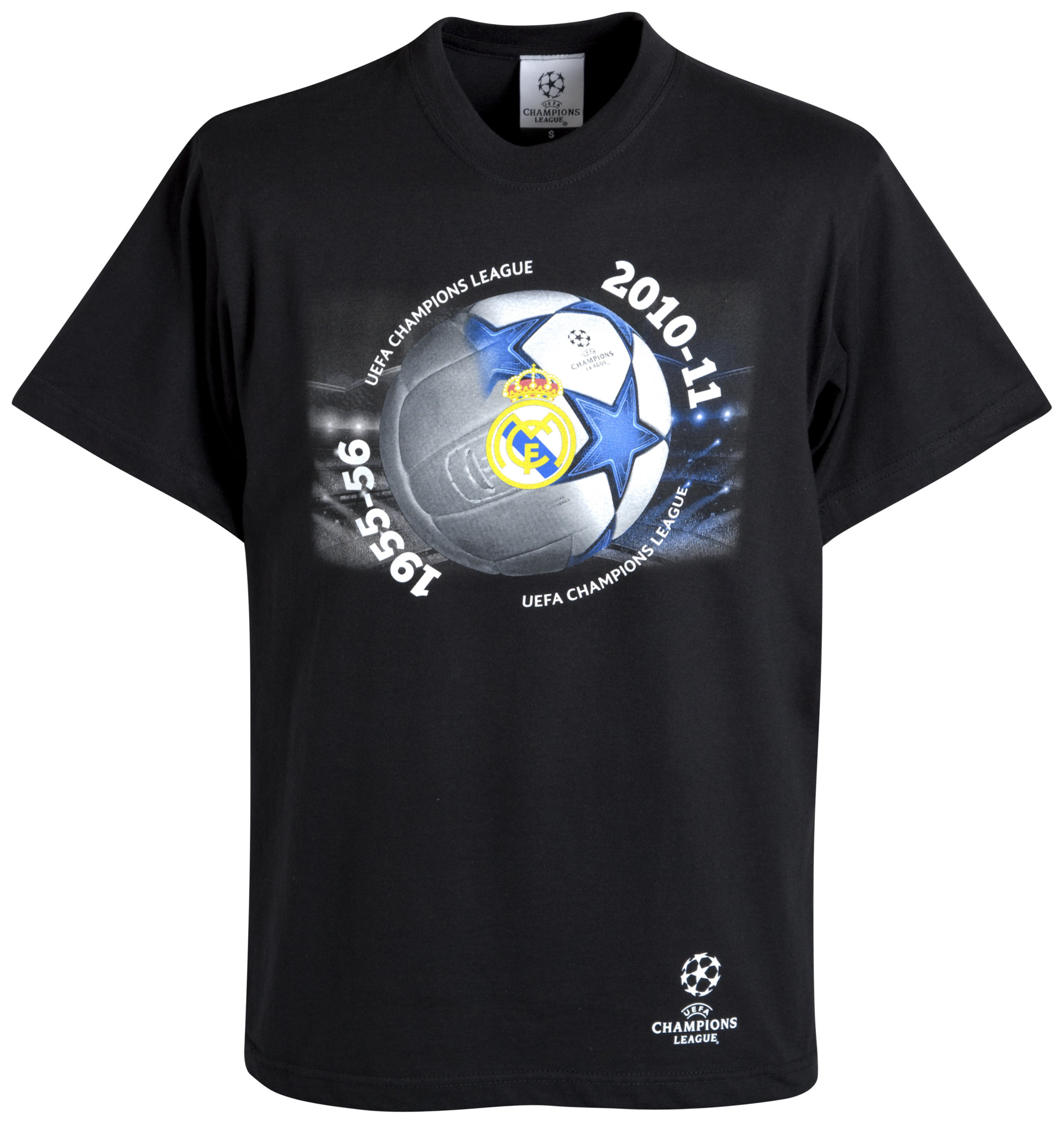 Real Madrid UEFA Champions League T-Shirt - Black