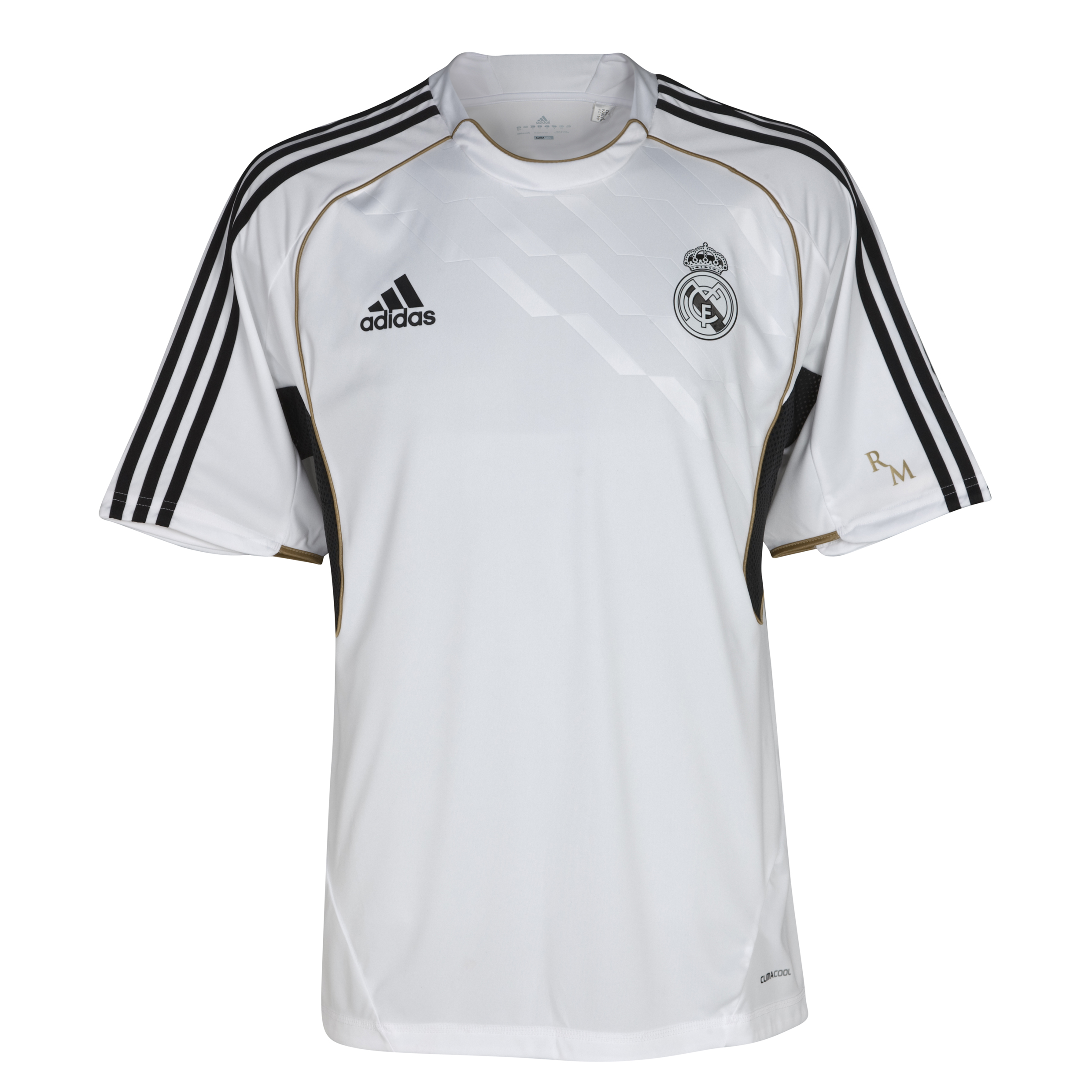 Real Madrid Training Jersey - White/Dark Football Gold