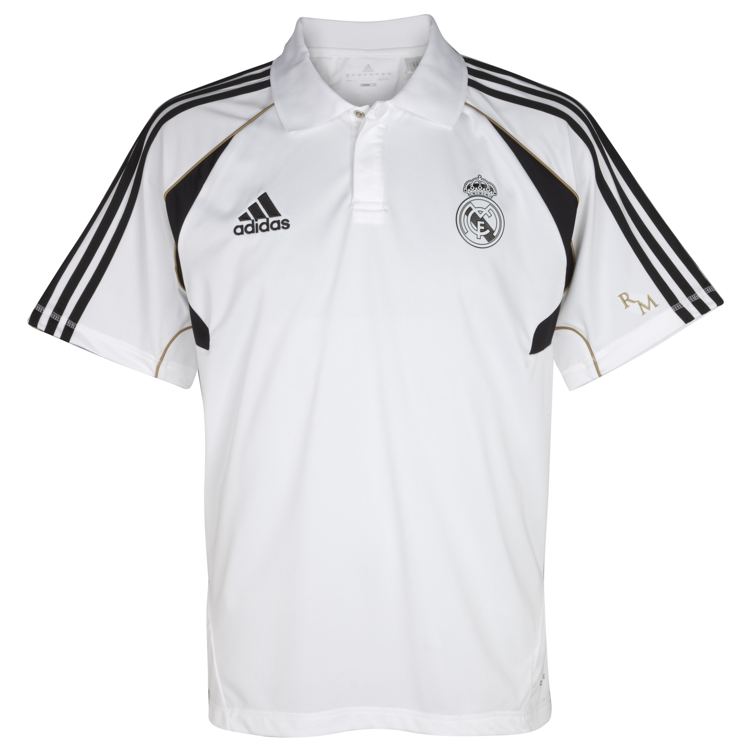 Real Madrid Training Polo - White/Dark Football Gold
