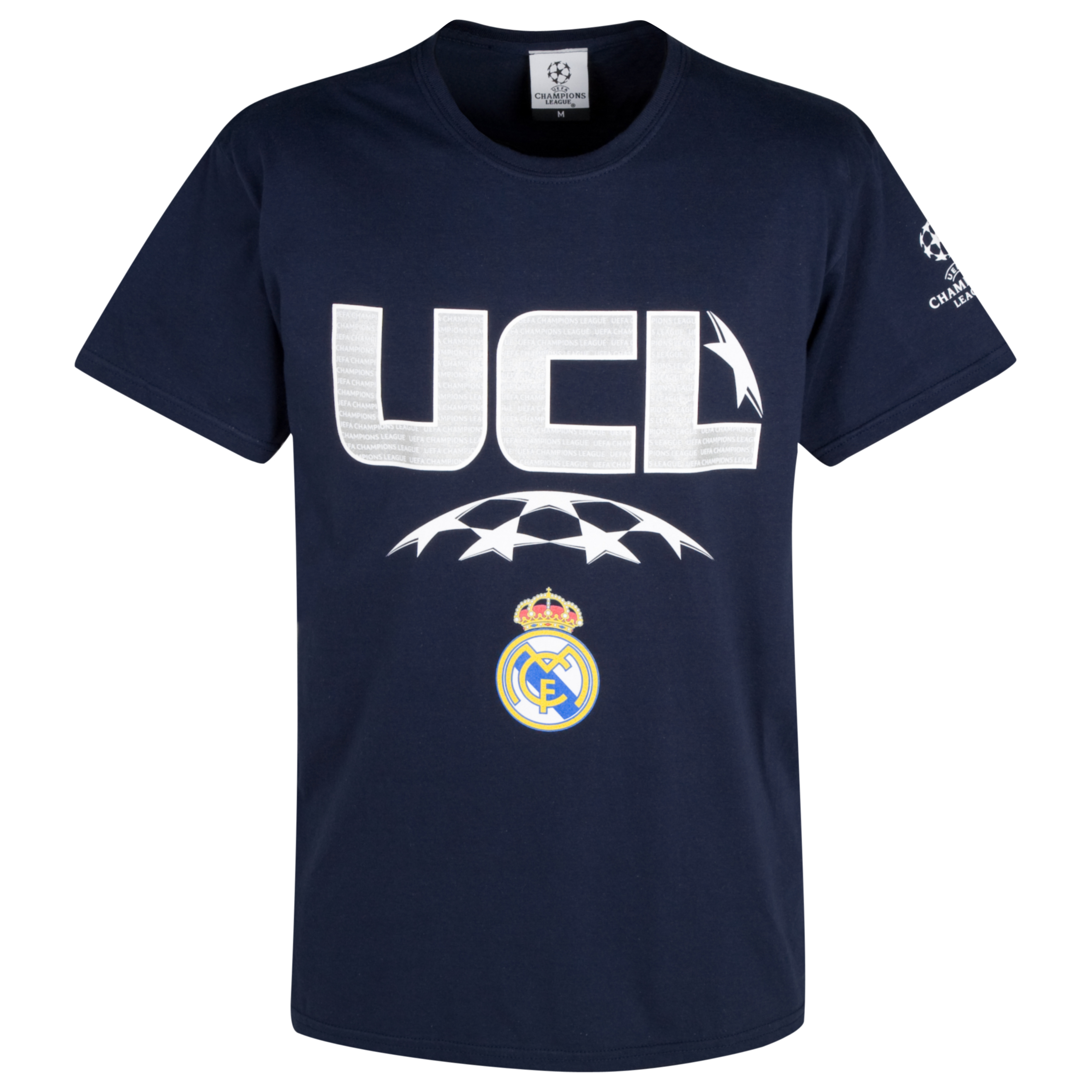 Real Madrid Raised Print T-Shirt - Navy - Boys