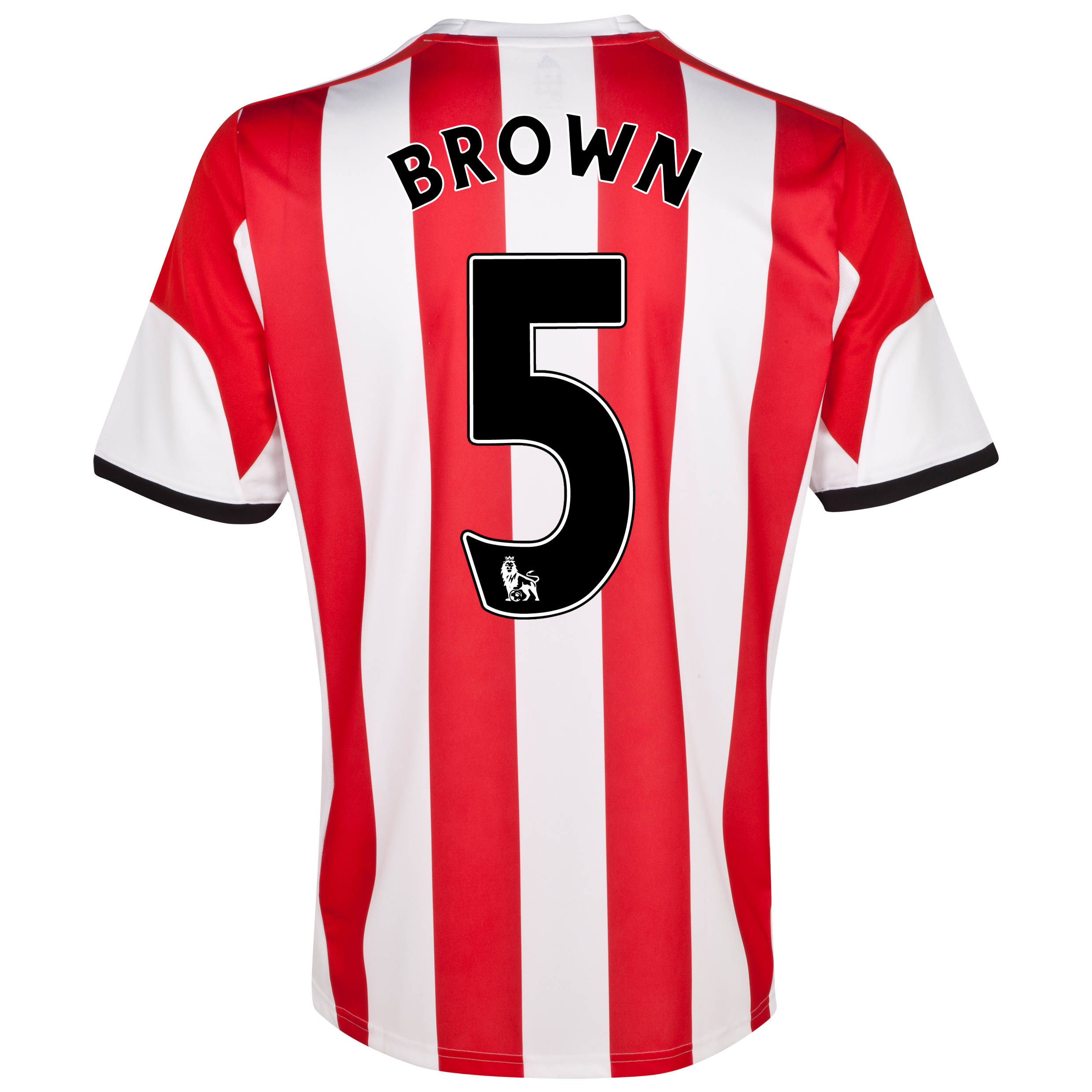 Sunderland Home Shirt 2013/14  with Brown 5 printing