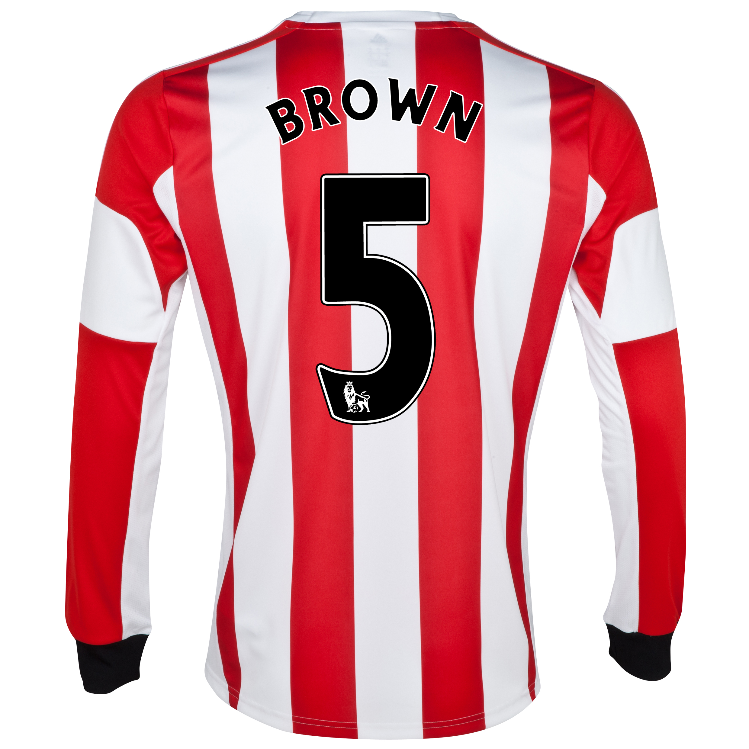 Sunderland Home Shirt 2013/14 - Long Sleeved  with Brown 5 printing