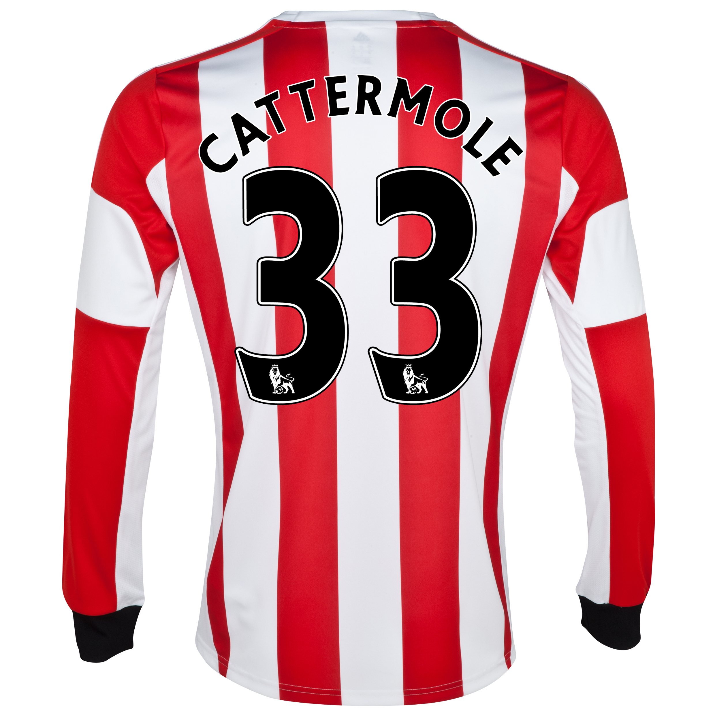 Sunderland Home Shirt 2013/14 - Long Sleeved with Cattermole 33 printing