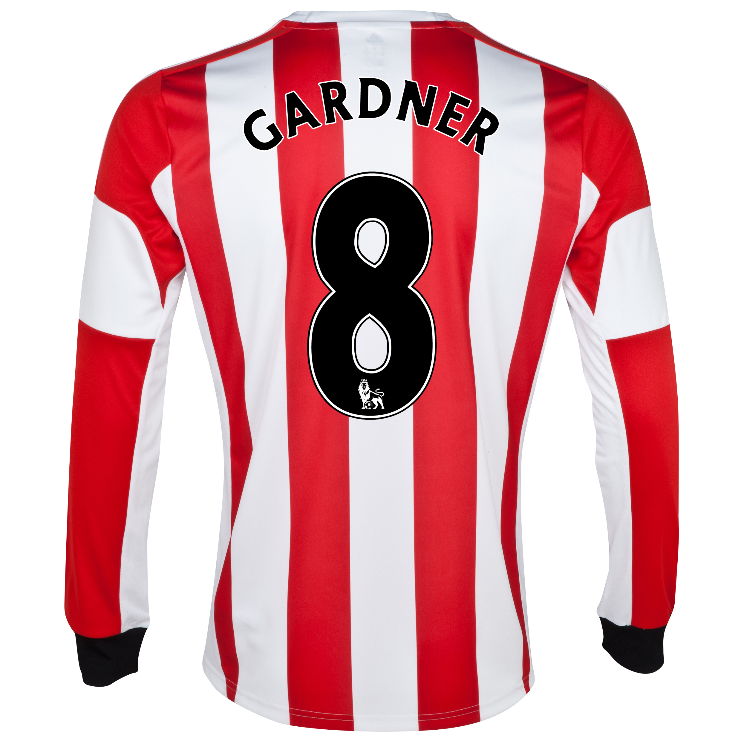 Sunderland Home Shirt 2013/14 - Long Sleeved  with Gardner 8 printing