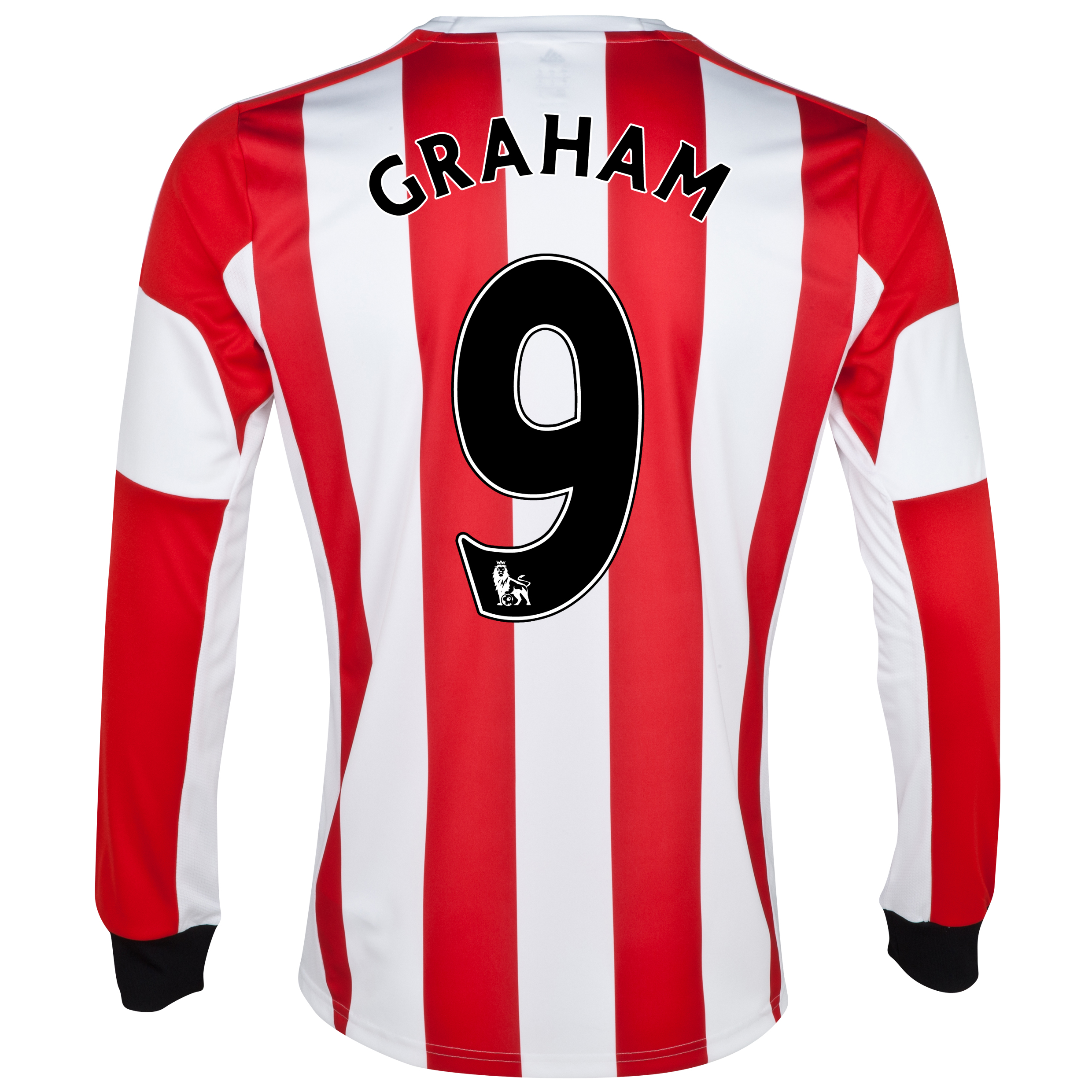 Sunderland Home Shirt 2013/14 - Long Sleeved  with Graham 9 printing