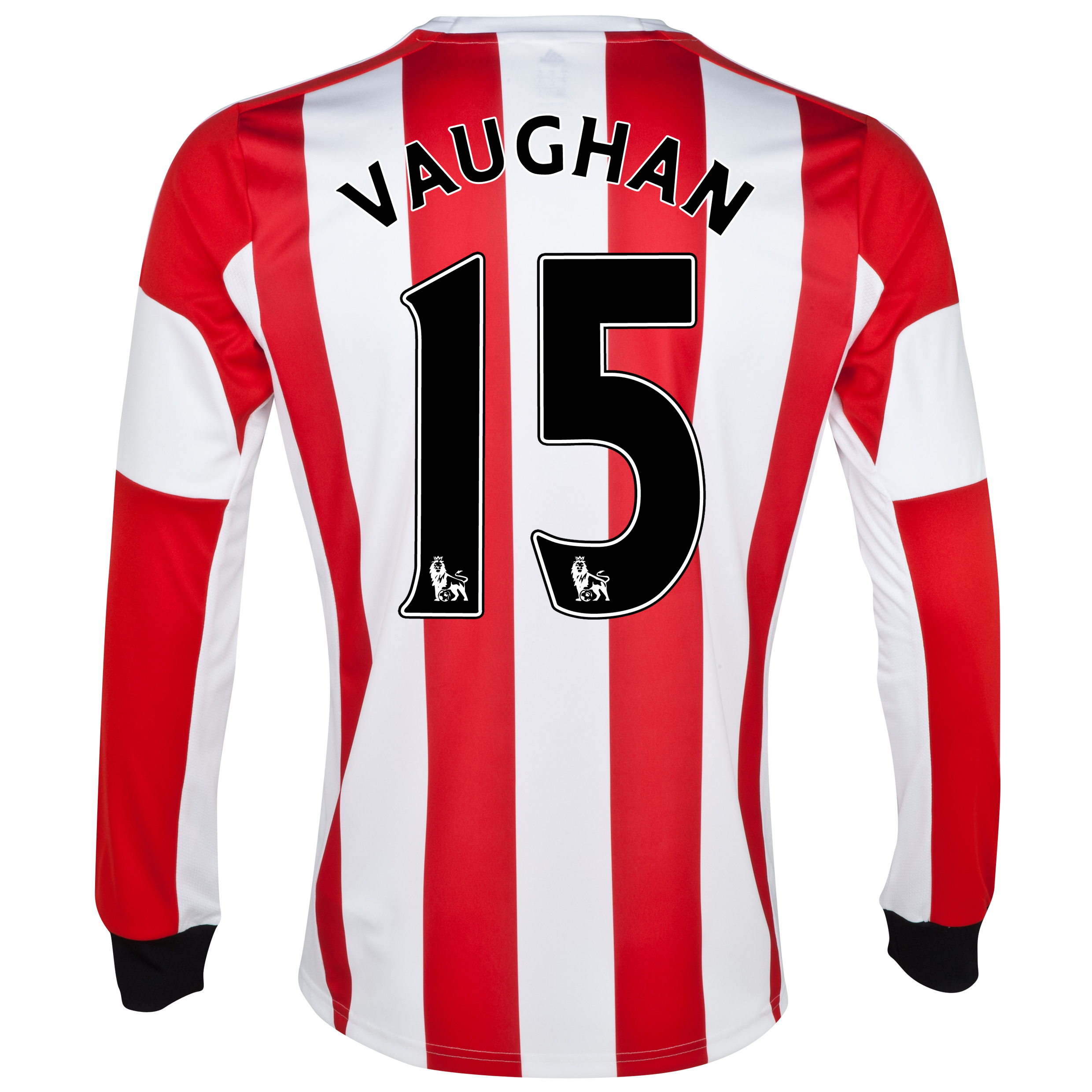 Sunderland Home Shirt 2013/14 - Long Sleeved  with Vaughan 15 printing