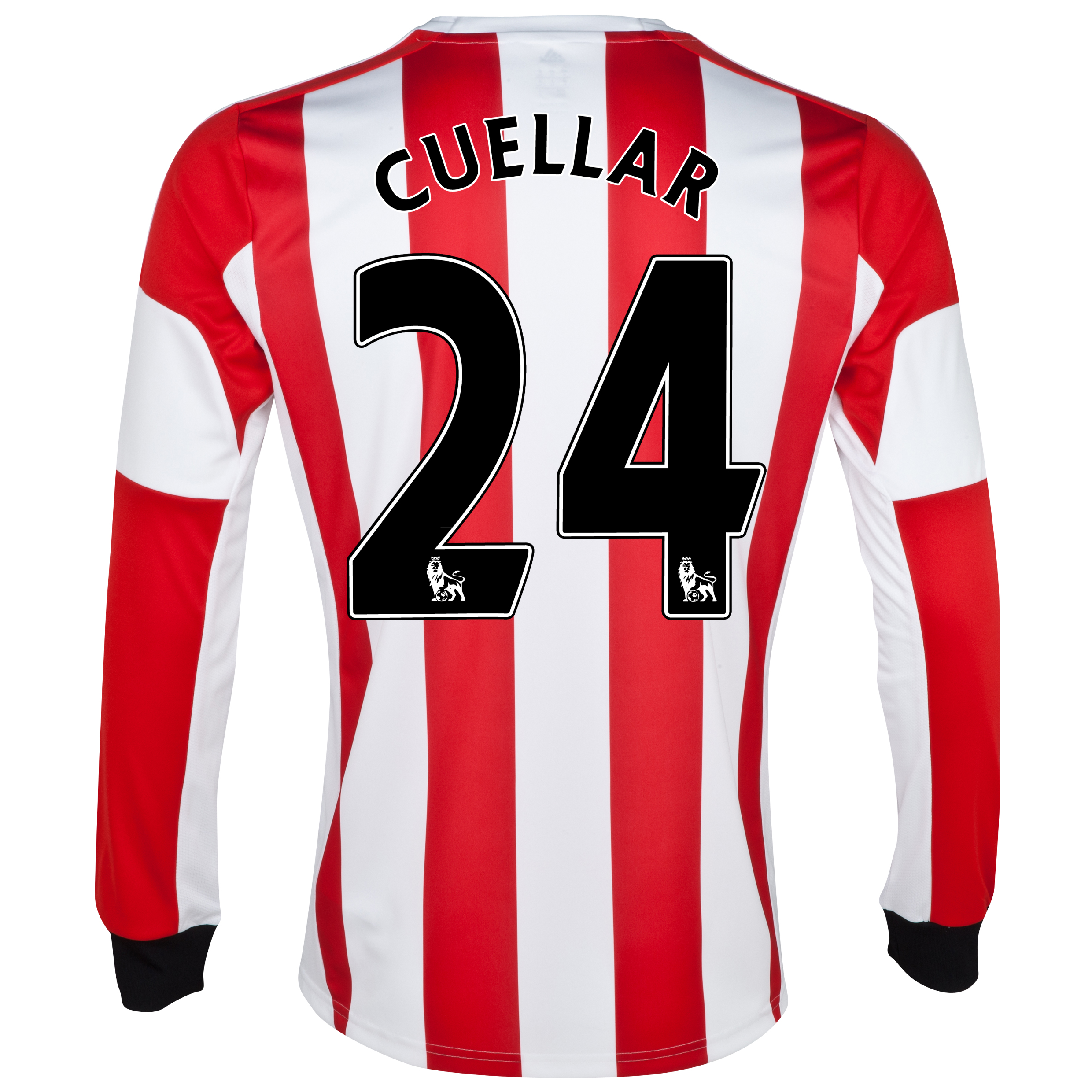 Sunderland Home Shirt 2013/14 - Long Sleeved  with Cuellar 24 printing