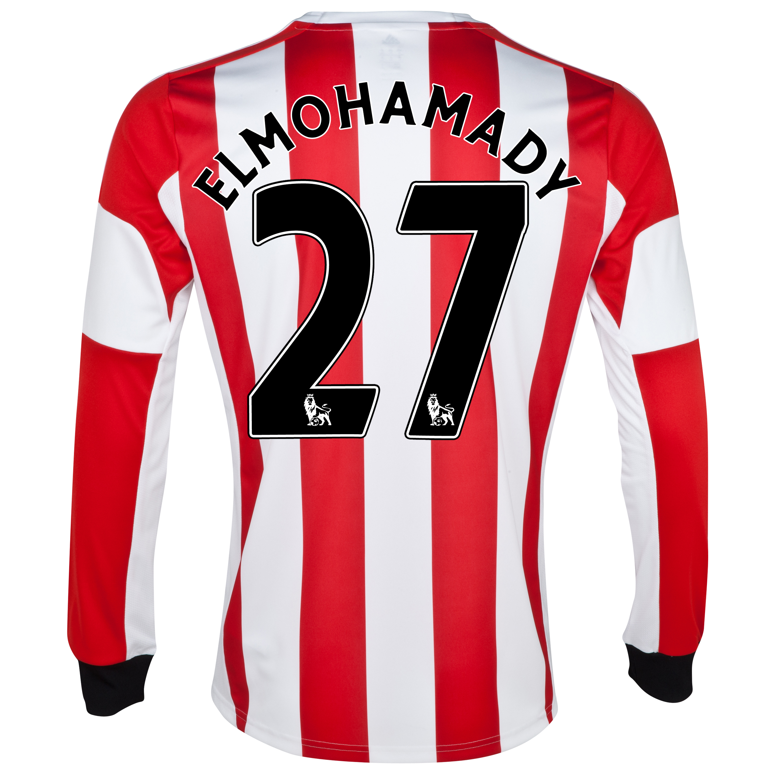 Sunderland Home Shirt 2013/14 - Long Sleeved  with Elmohamady 27 printing