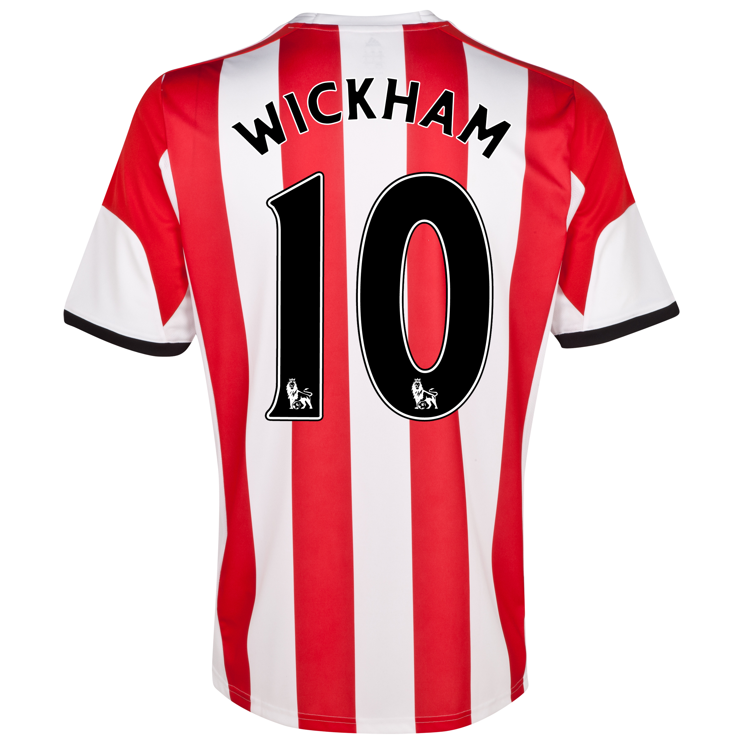Sunderland Home Shirt 2013/14 - Junior with Wickham 10 printing