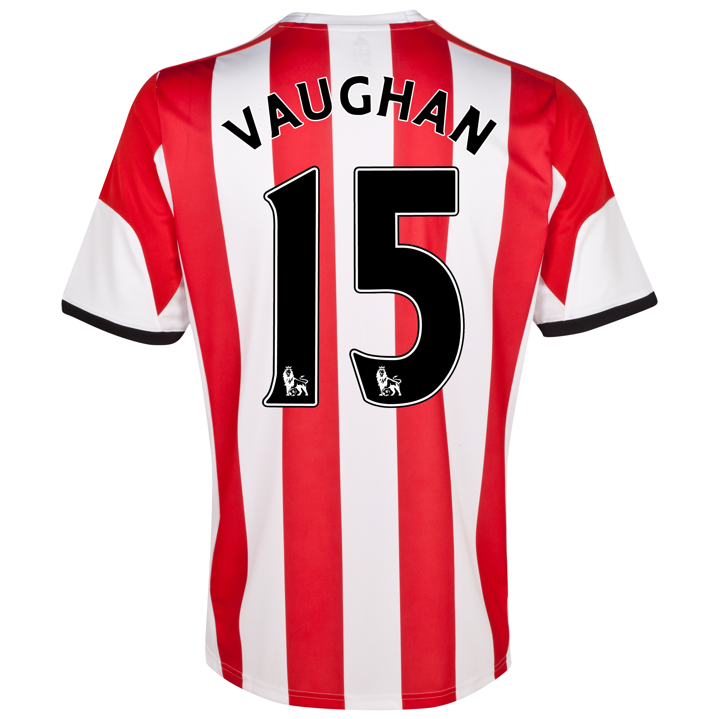 Sunderland Home Shirt 2013/14 - Junior with Vaughan 15 printing