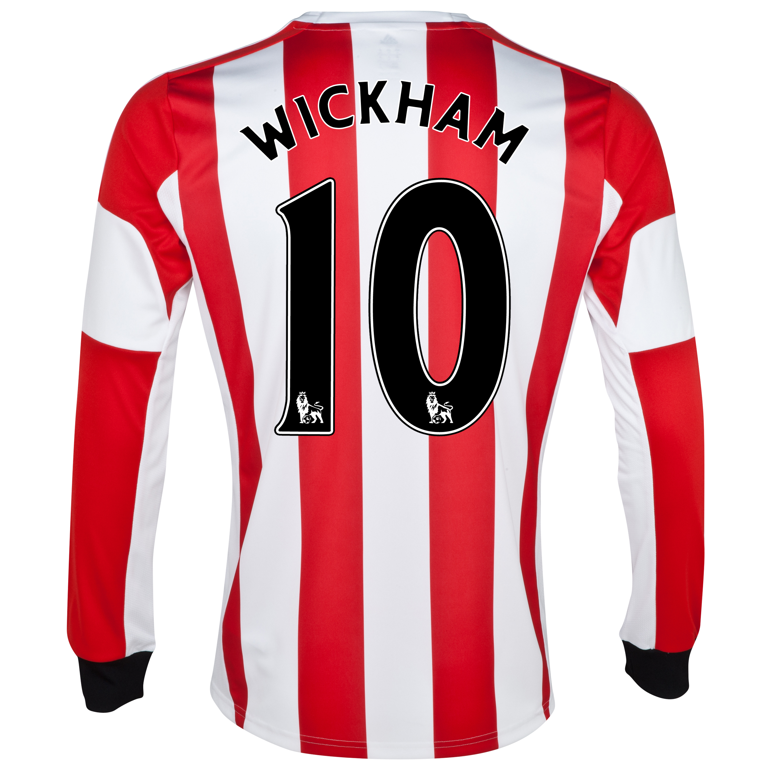 Sunderland Home Shirt 2013/14 - Long Sleeved - Junior with Wickham 10 printing