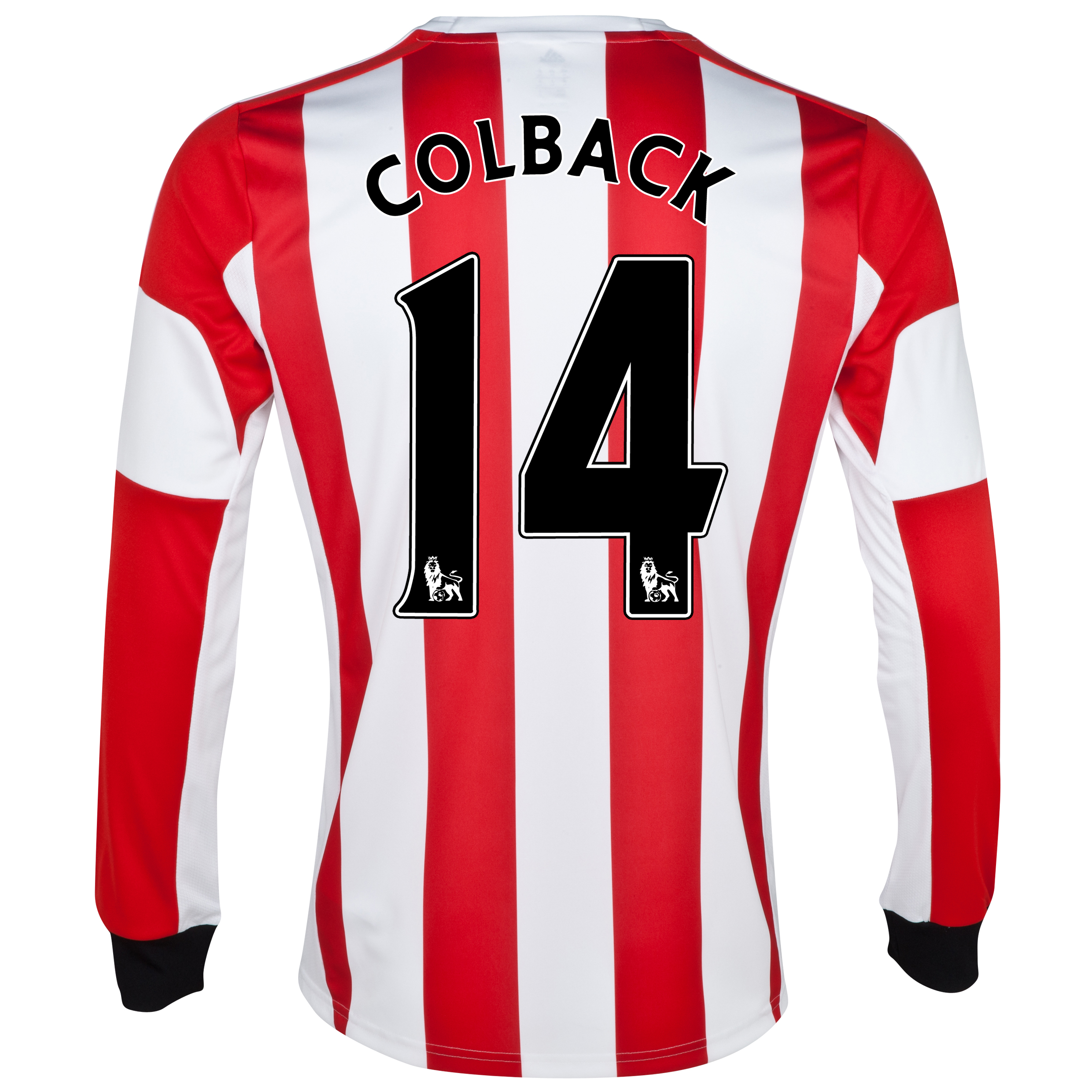 Sunderland Home Shirt 2013/14 - Long Sleeved - Junior with Colback 14 printing
