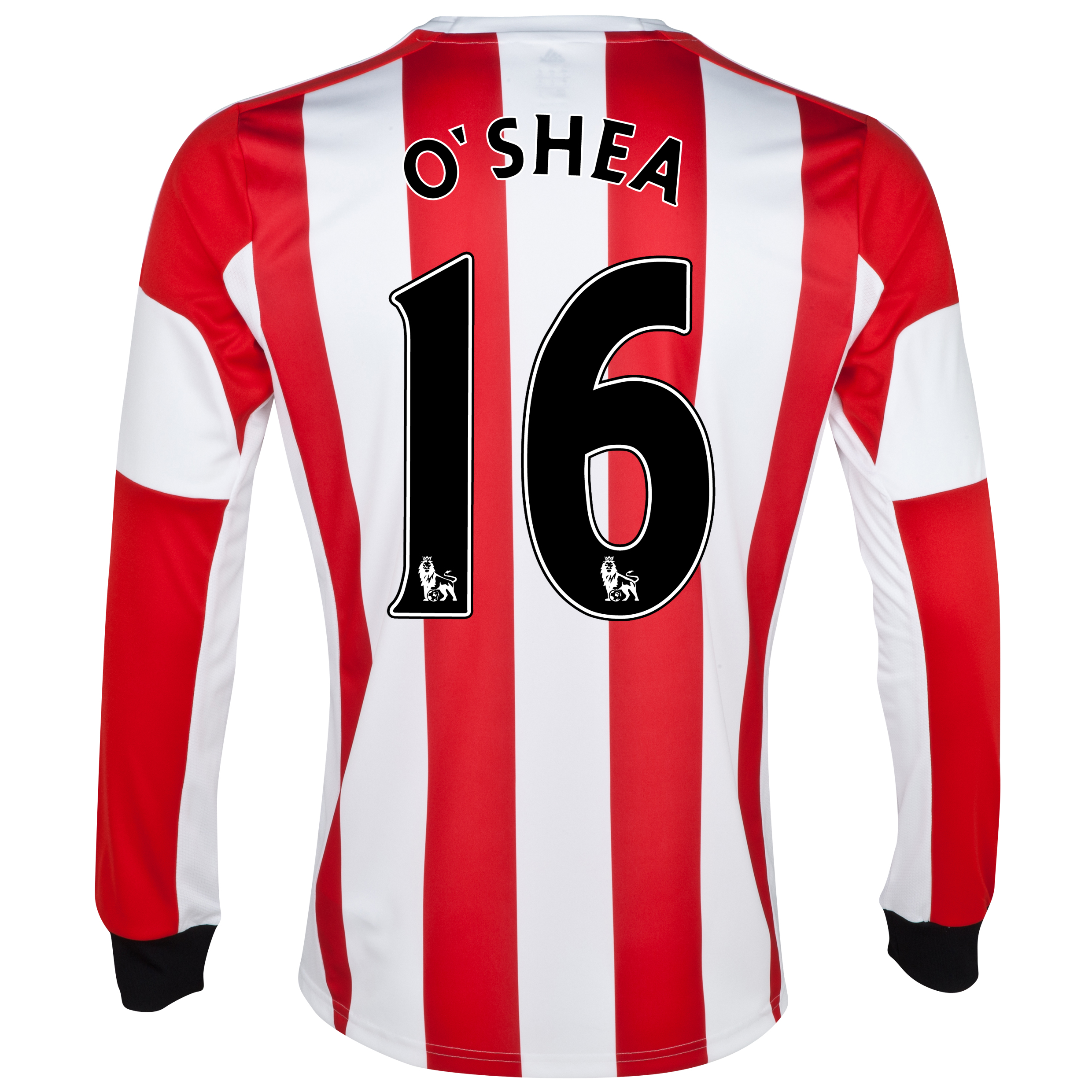 Sunderland Home Shirt 2013/14 - Long Sleeved - Junior with O'Shea 16 printing