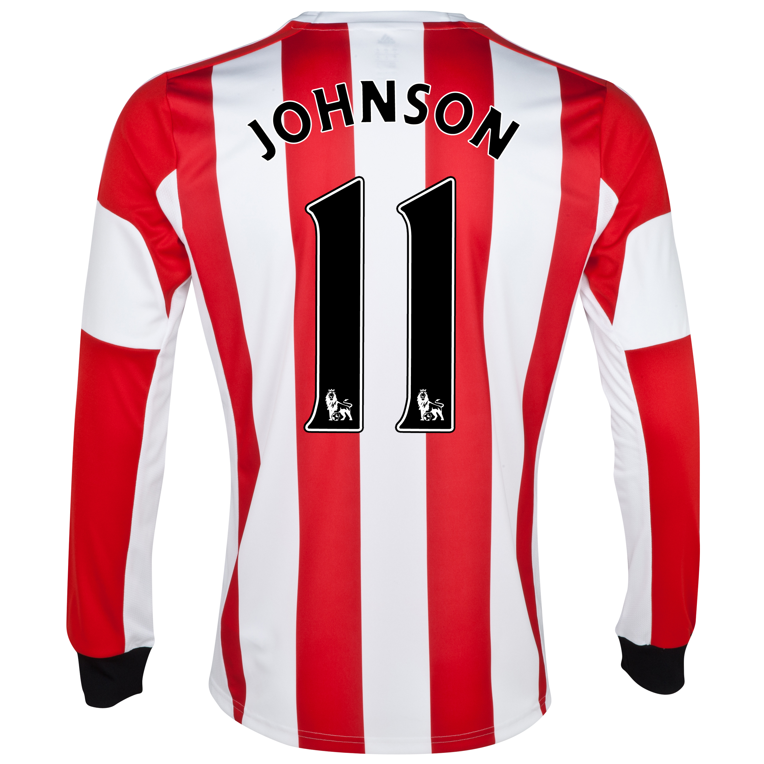 Sunderland Home Shirt 2013/14 - Long Sleeved - Junior with Johnson 11 printing
