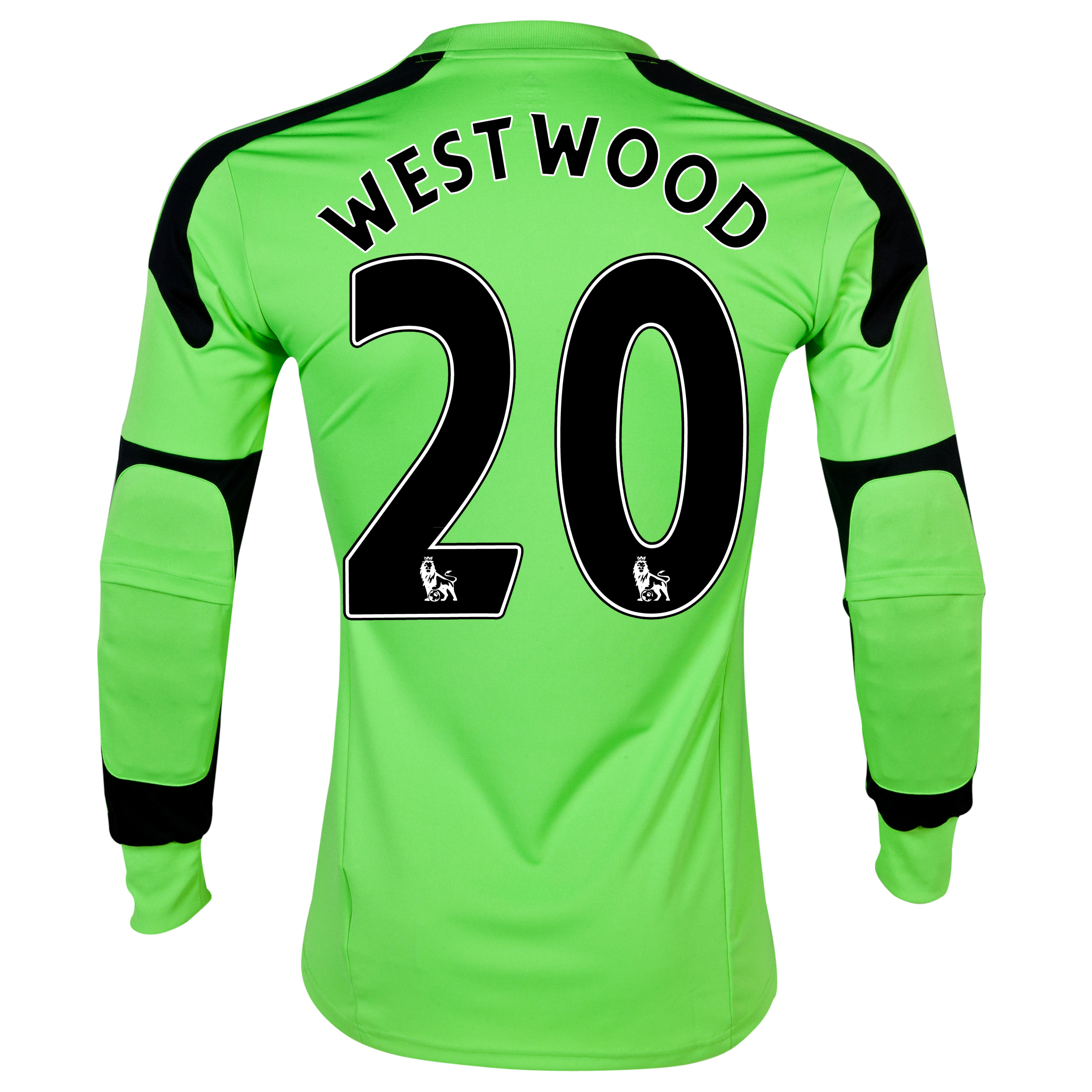 Sunderland Home Goalkeeper Shirt 2013/14 - Junior with Westwood 20 printing