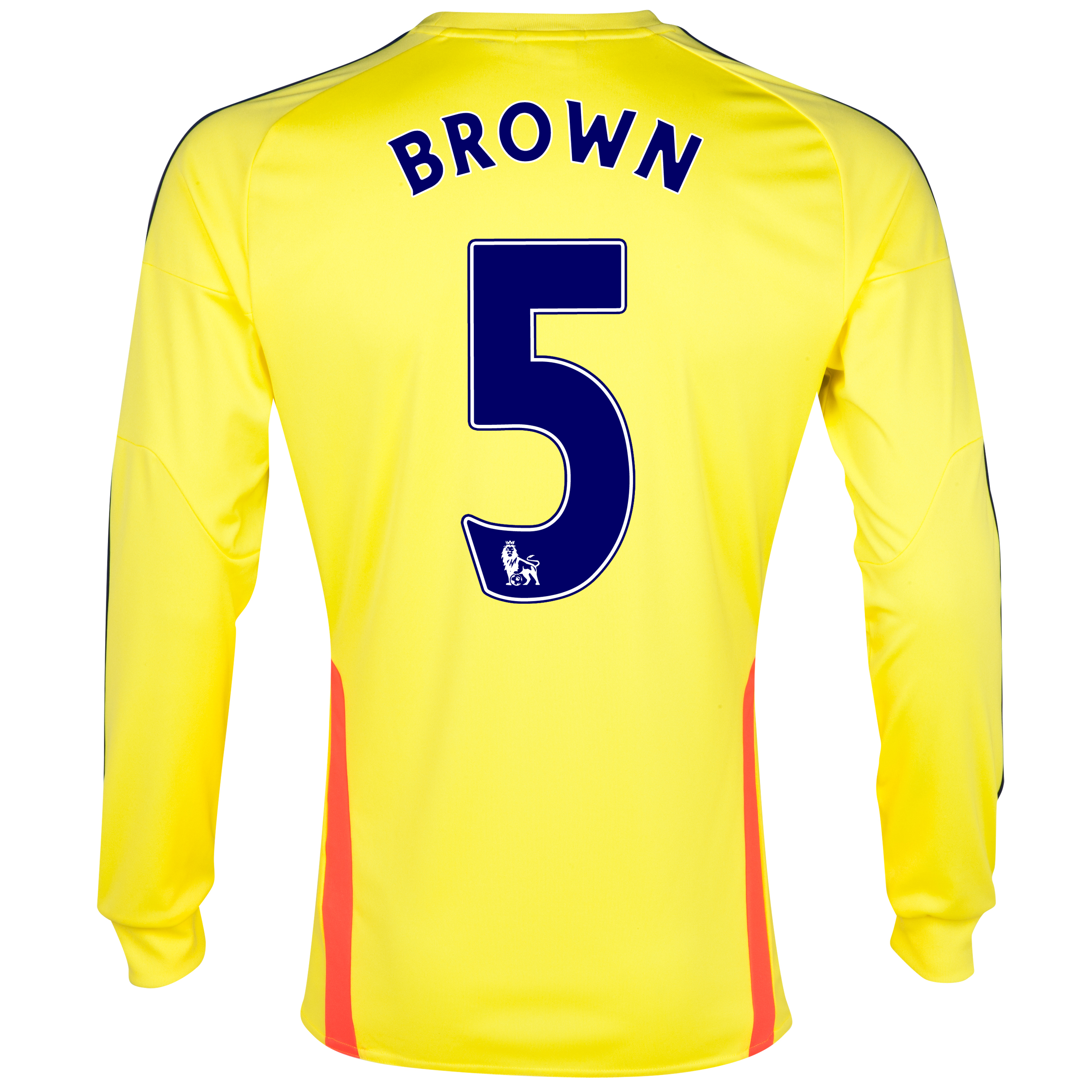 Sunderland Away Shirt 2013/14 - Long Sleeved with Brown 5 printing