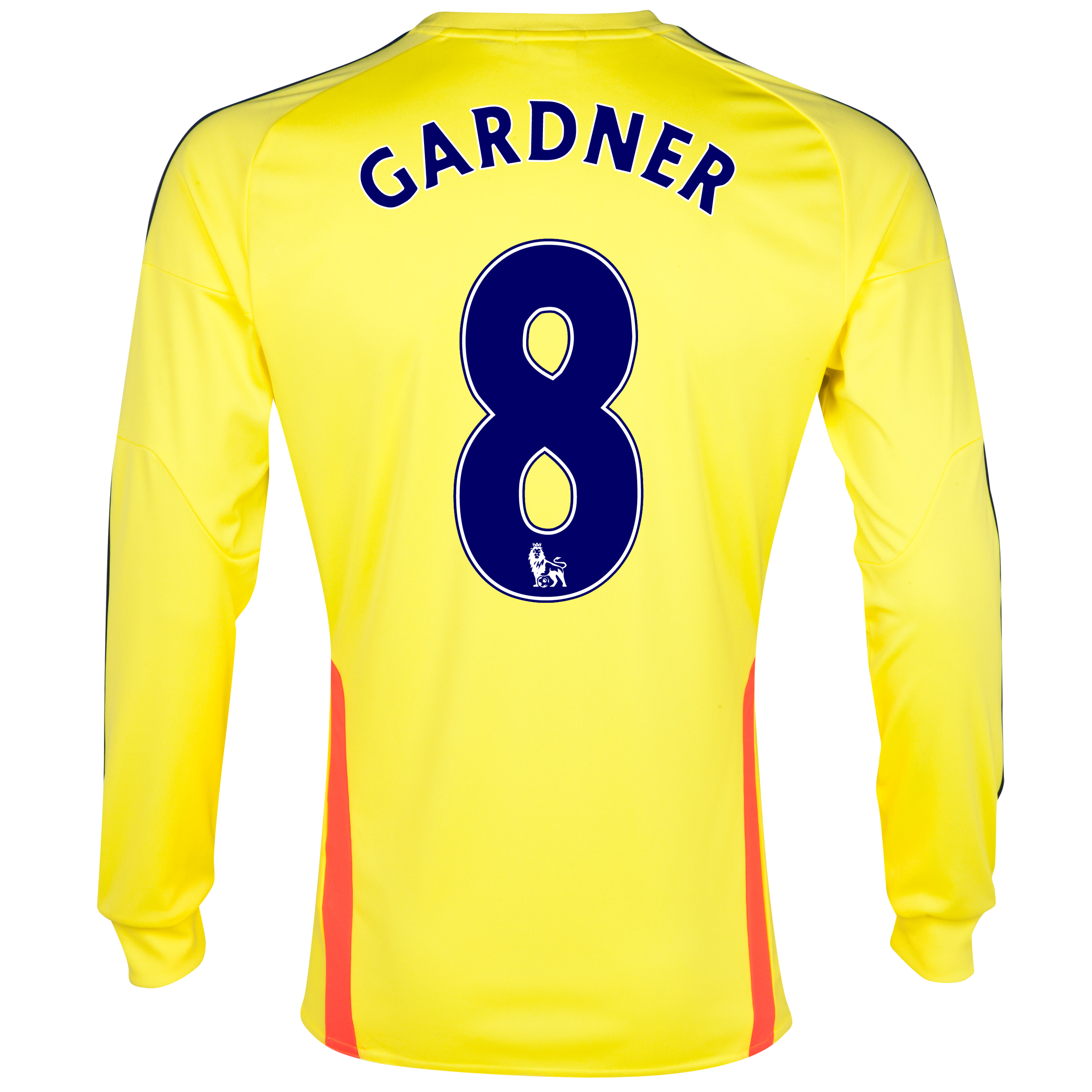 Sunderland Away Shirt 2013/14 - Long Sleeved with Gardner 8 printing
