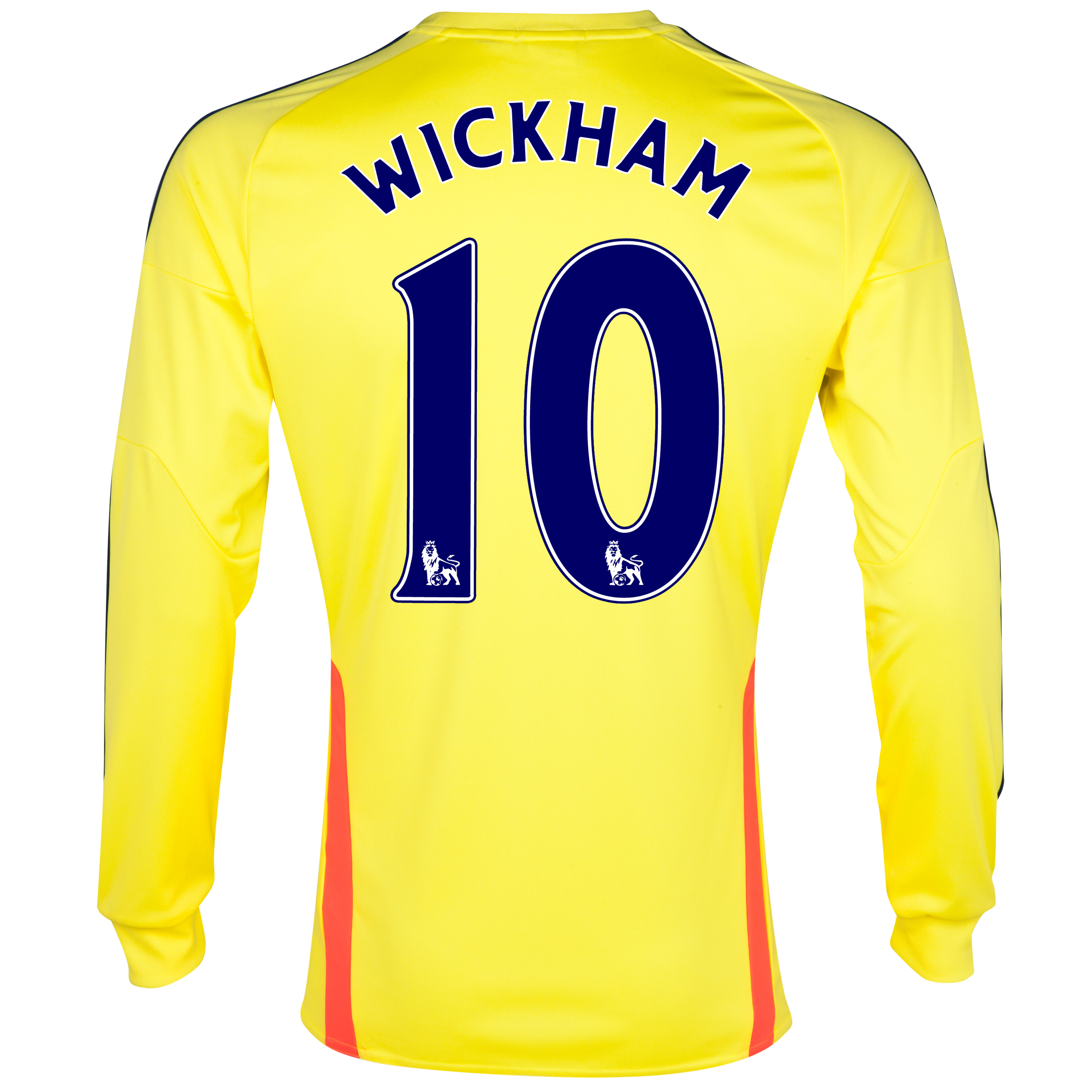 Sunderland Away Shirt 2013/14 - Long Sleeved with Wickham 10 printing