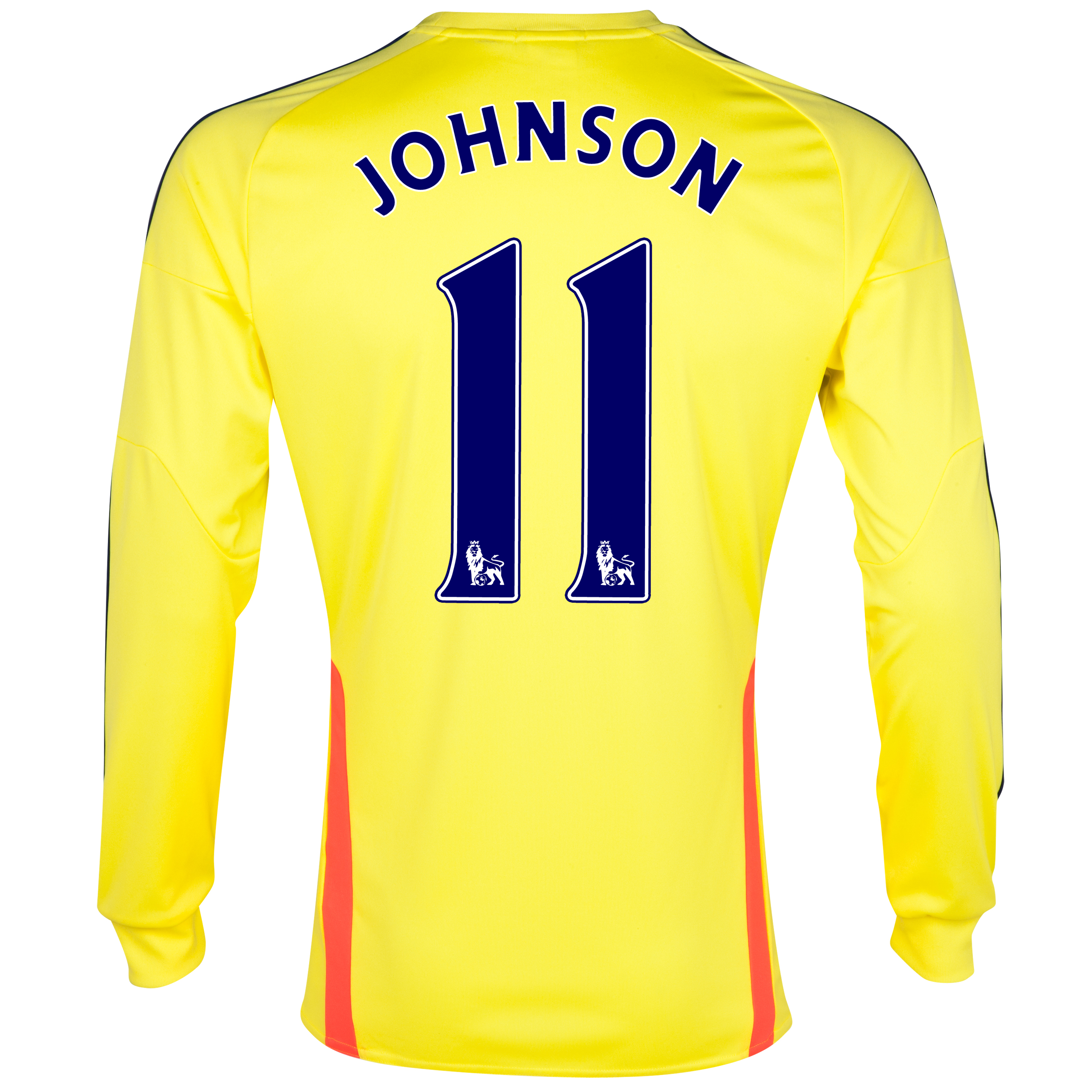 Sunderland Away Shirt 2013/14 - Long Sleeved with Johnson 11 printing