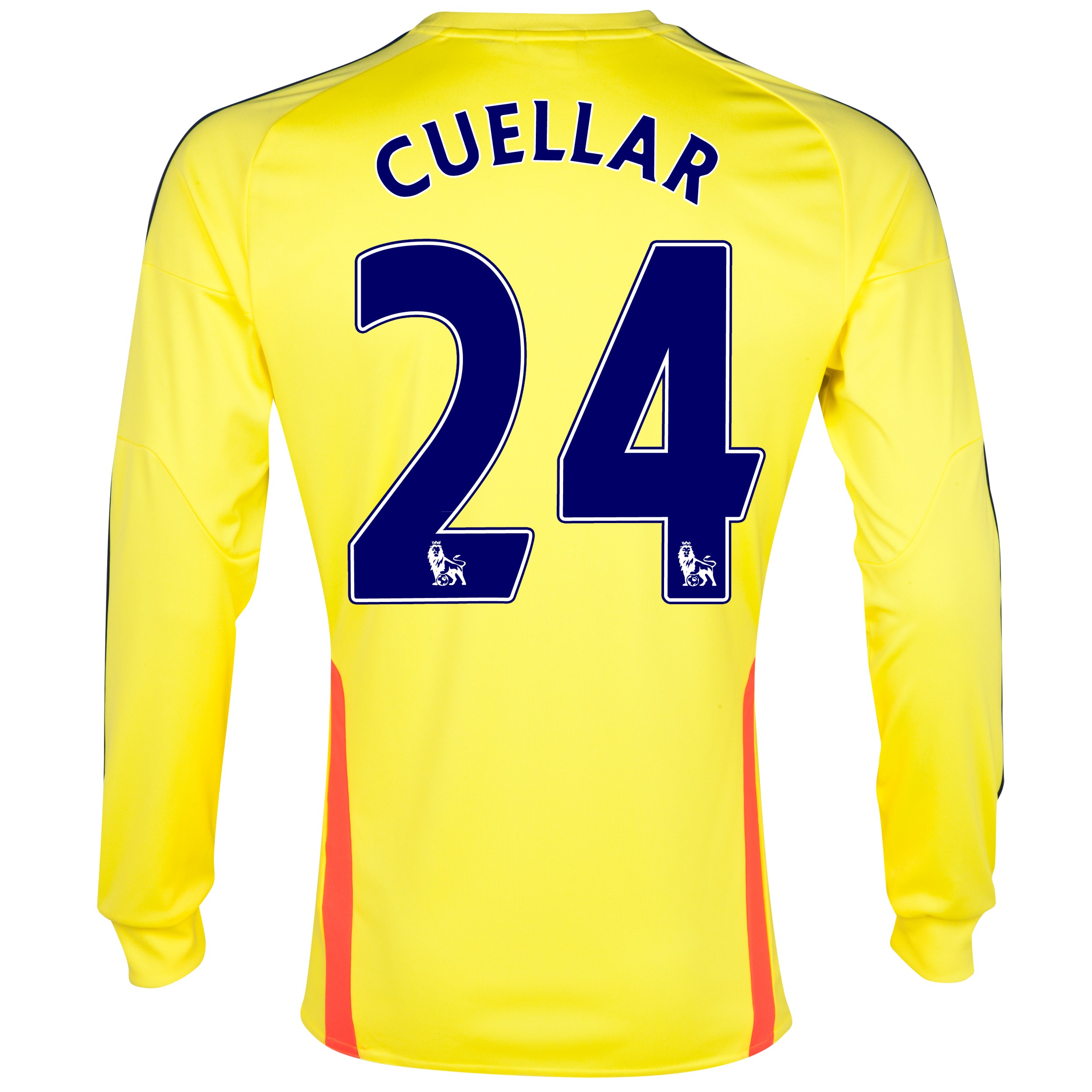Sunderland Away Shirt 2013/14 - Long Sleeved with Cuellar 24 printing