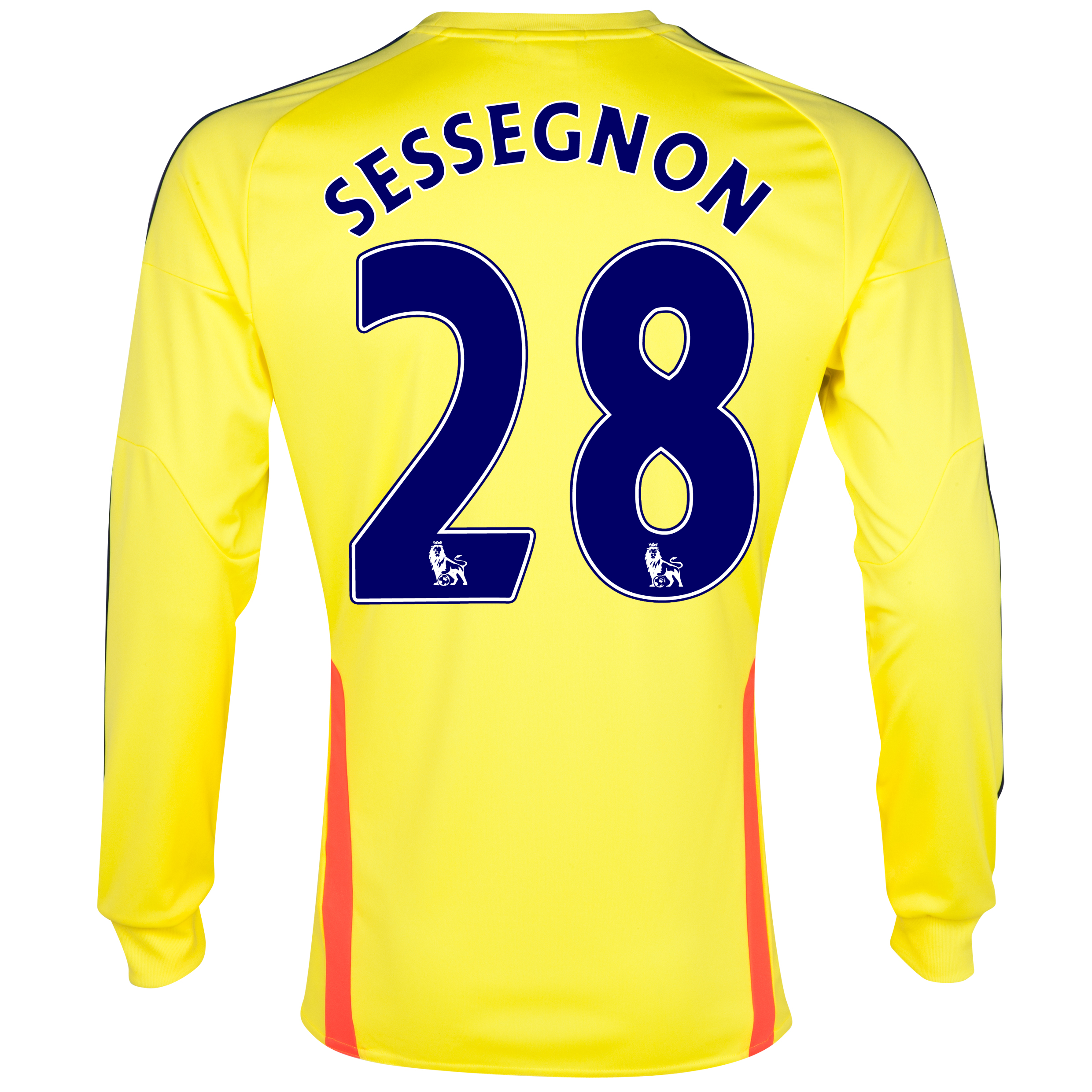Sunderland Away Shirt 2013/14 - Long Sleeved with Sessegnon 28 printing
