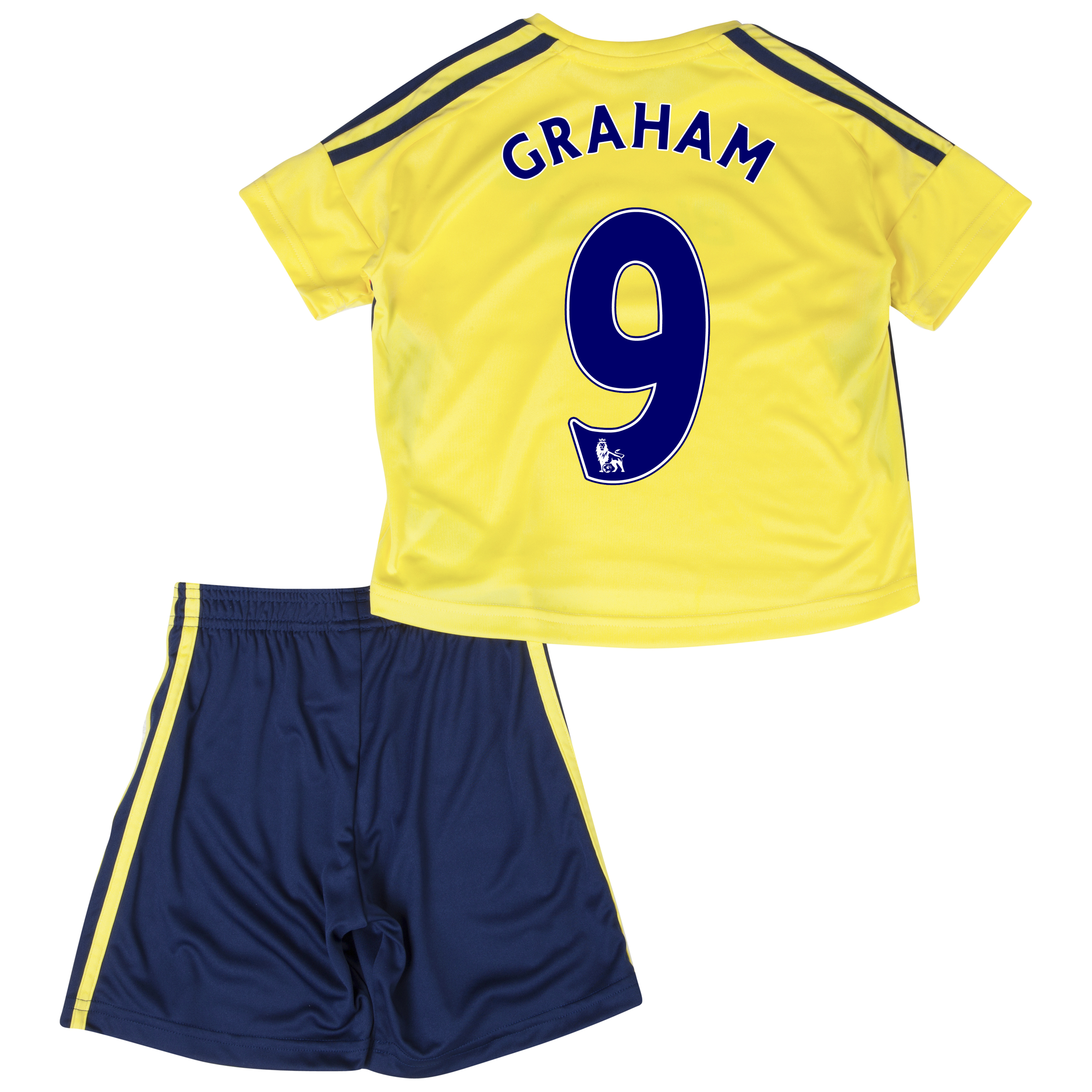 Sunderland Away Minikit 2013/14 - Infants with Graham 9 printing