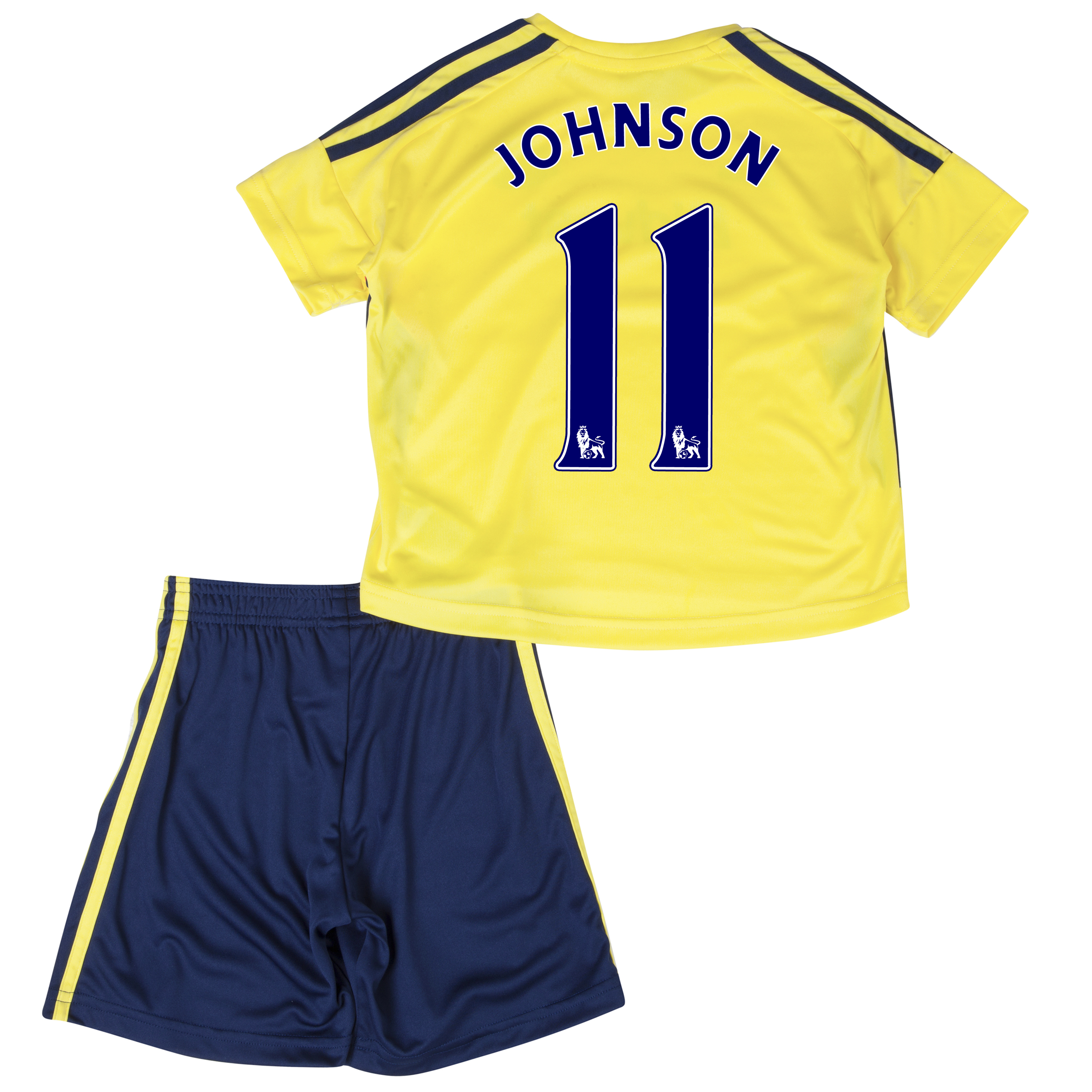 Sunderland Away Minikit 2013/14 - Infants with Johnson 11 printing