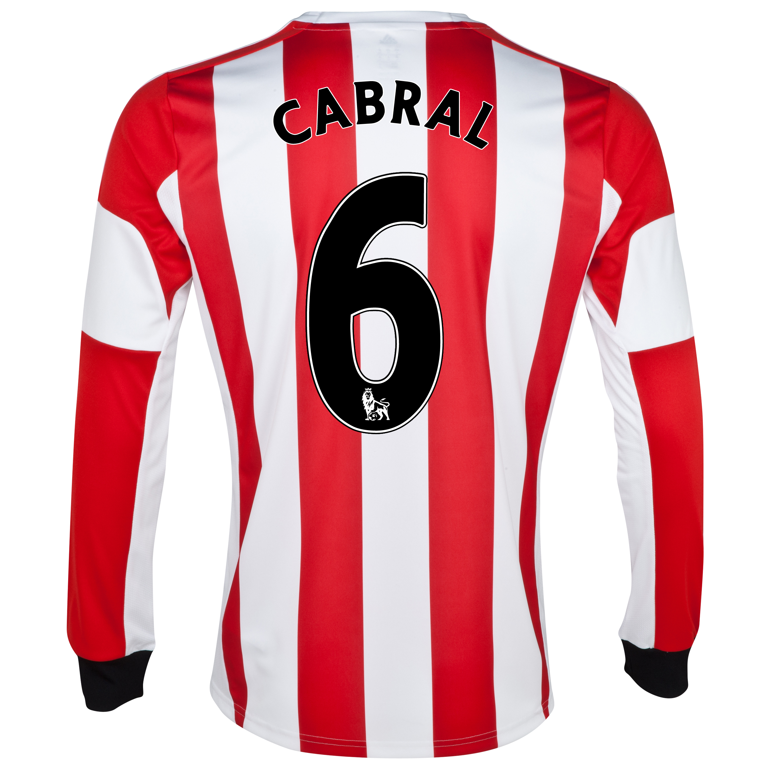 Sunderland Home Shirt 2013/14 - Long Sleeved with Cabral 6 printing
