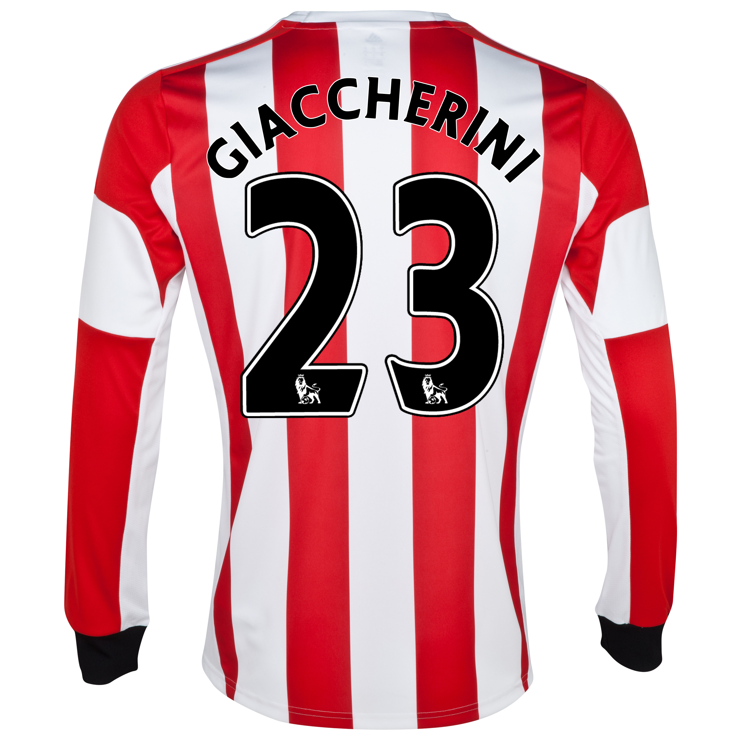 Sunderland Home Shirt 2013/14 - Long Sleeved with Giaccherini 23 printing