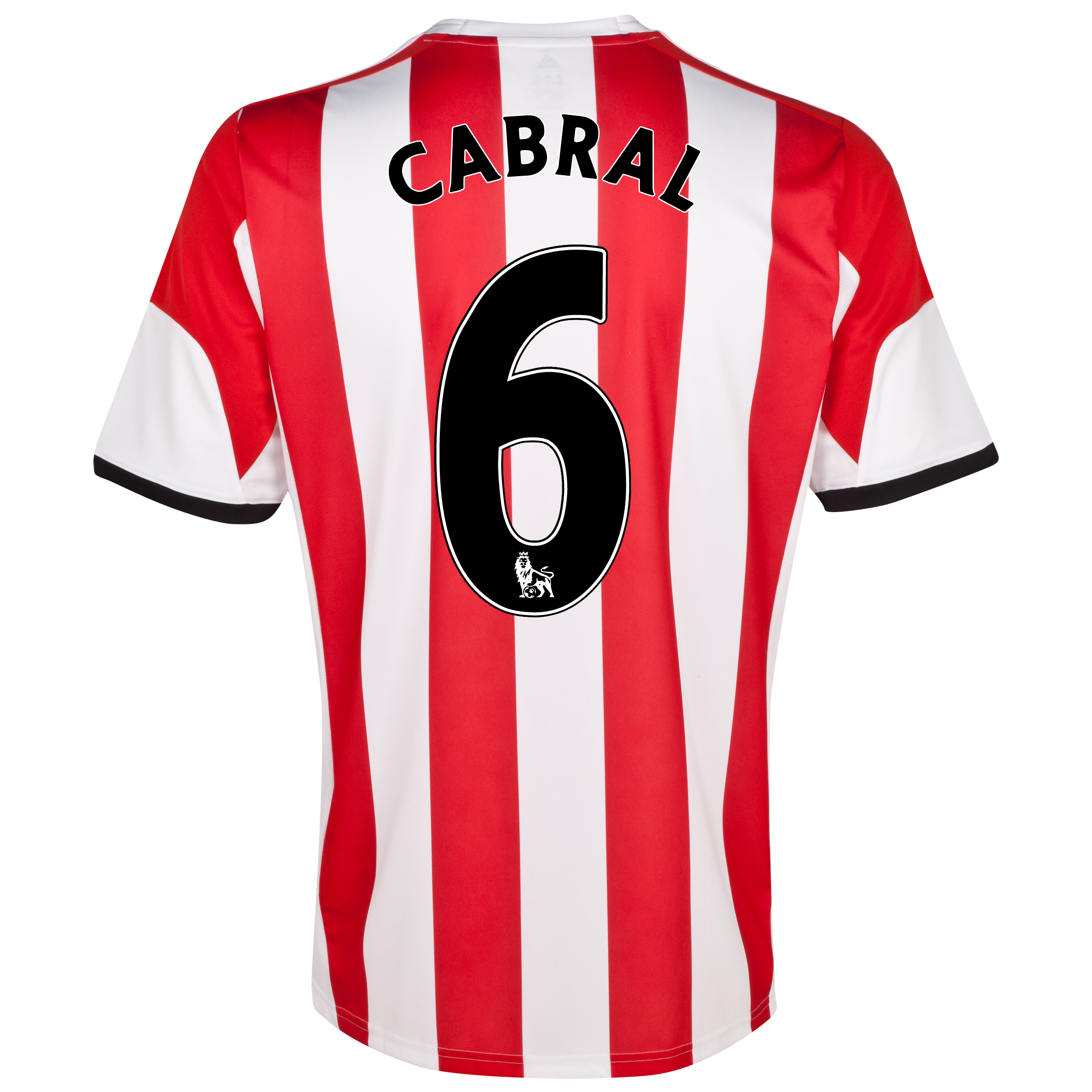 Sunderland Home Shirt 2013/14 - Junior with Cabral 6 printing