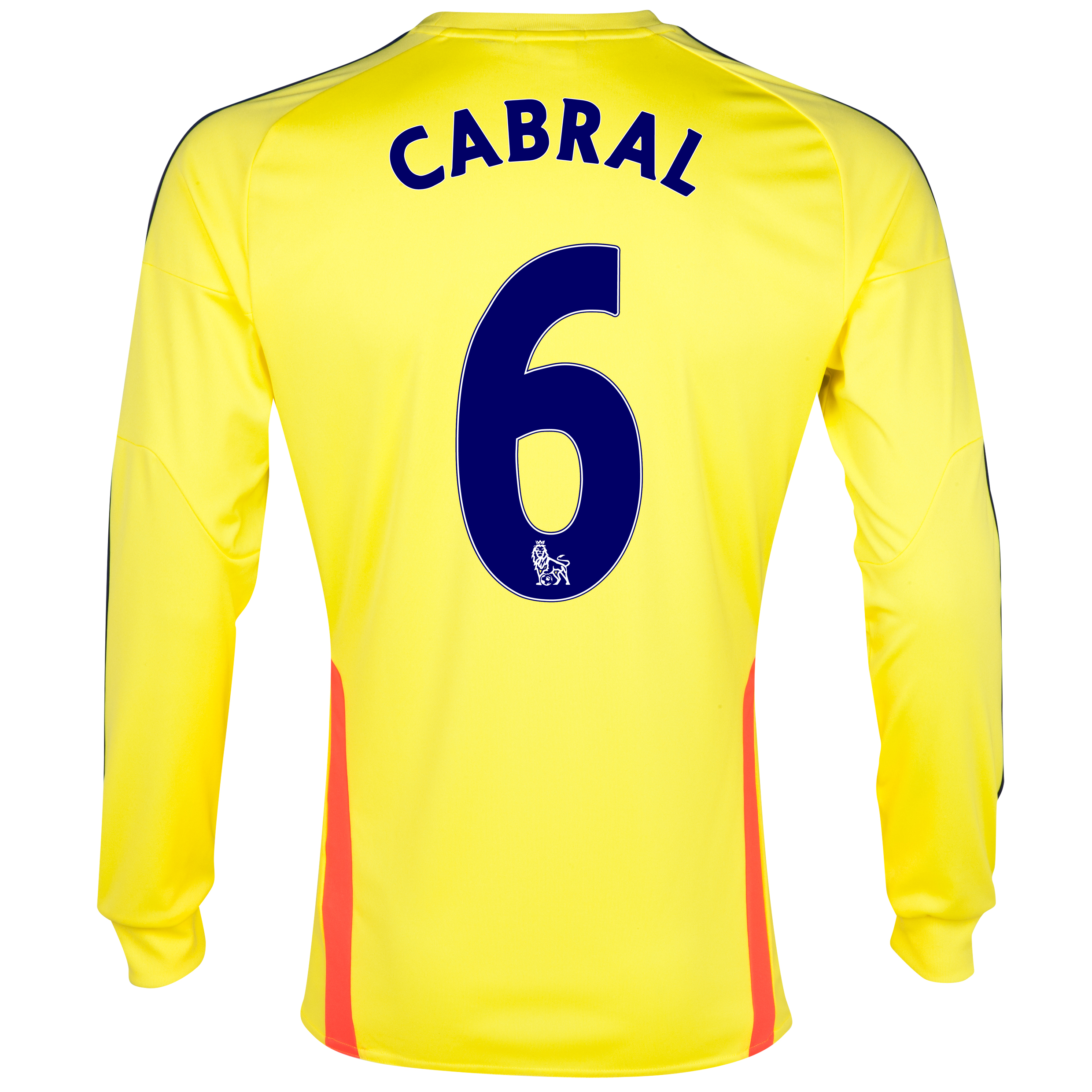 Sunderland Away Shirt 2013/14 - Long Sleeved with Cabral 6 printing