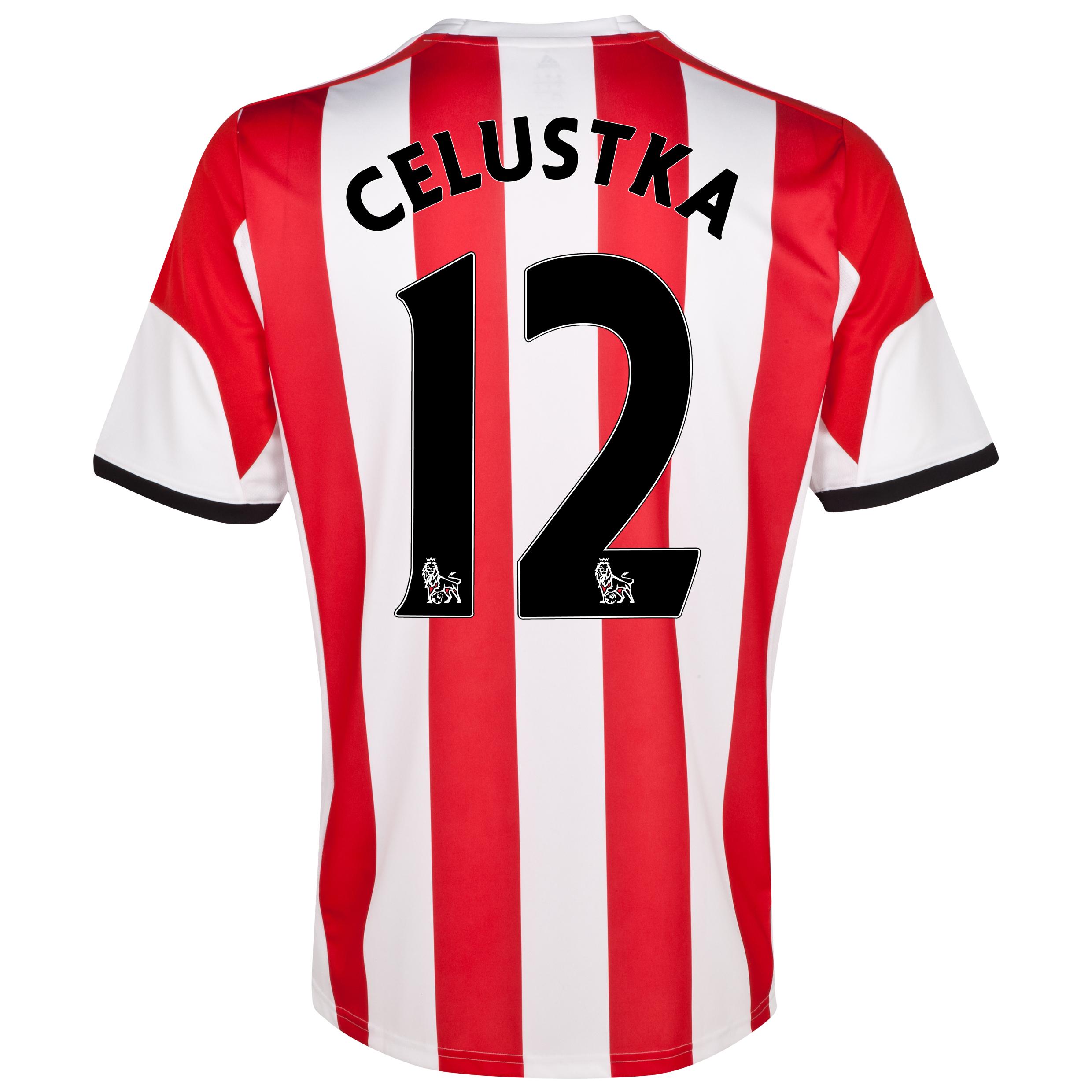 Sunderland Home Shirt 2013/14 with Celustka 12 printing