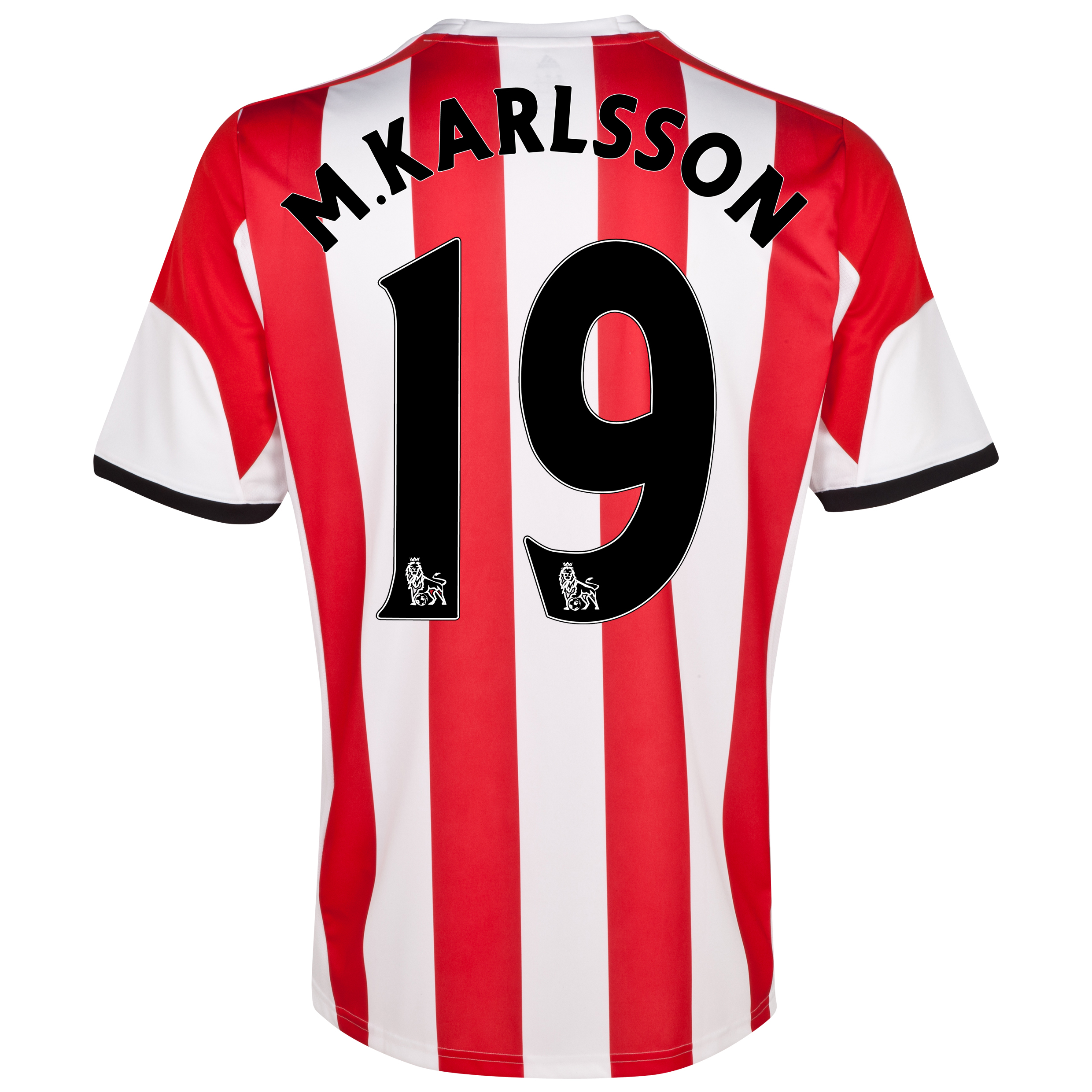 Sunderland Home Shirt 2013/14 with M.Karlsson 19 printing