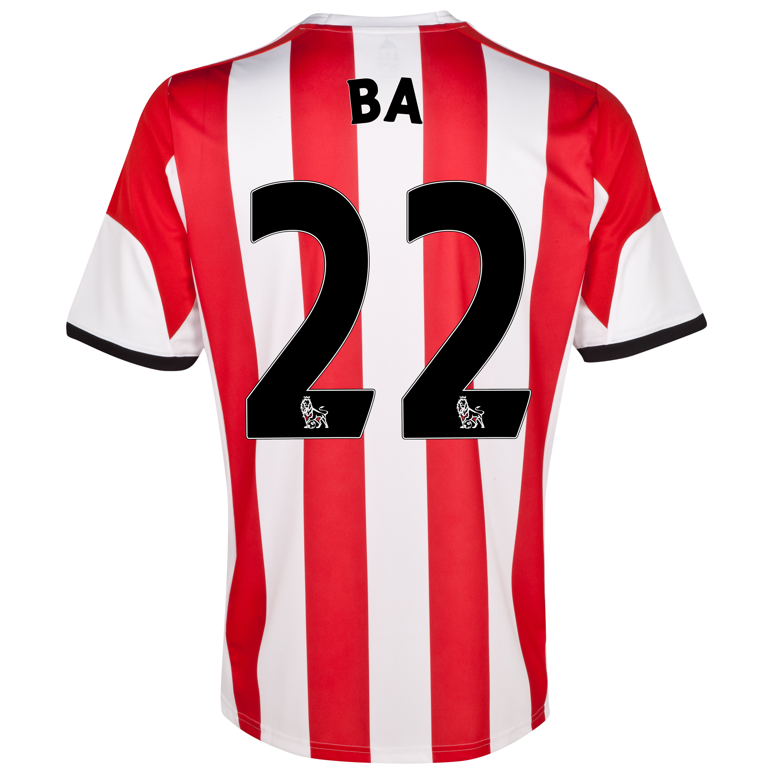 Sunderland Home Shirt 2013/14 with Ba 22 printing