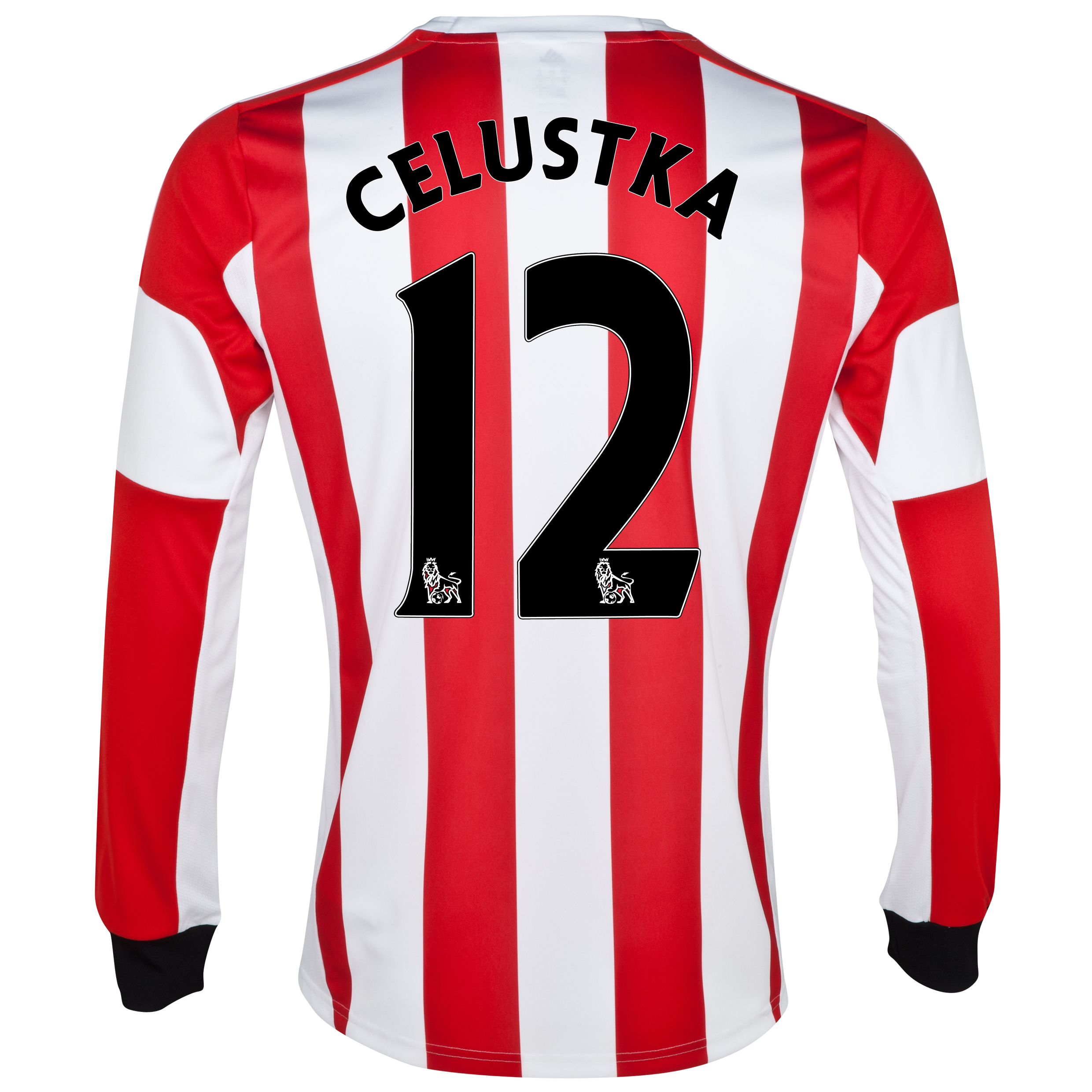 Sunderland Home Shirt 2013/14 - Long Sleeved with Celustka 12 printing