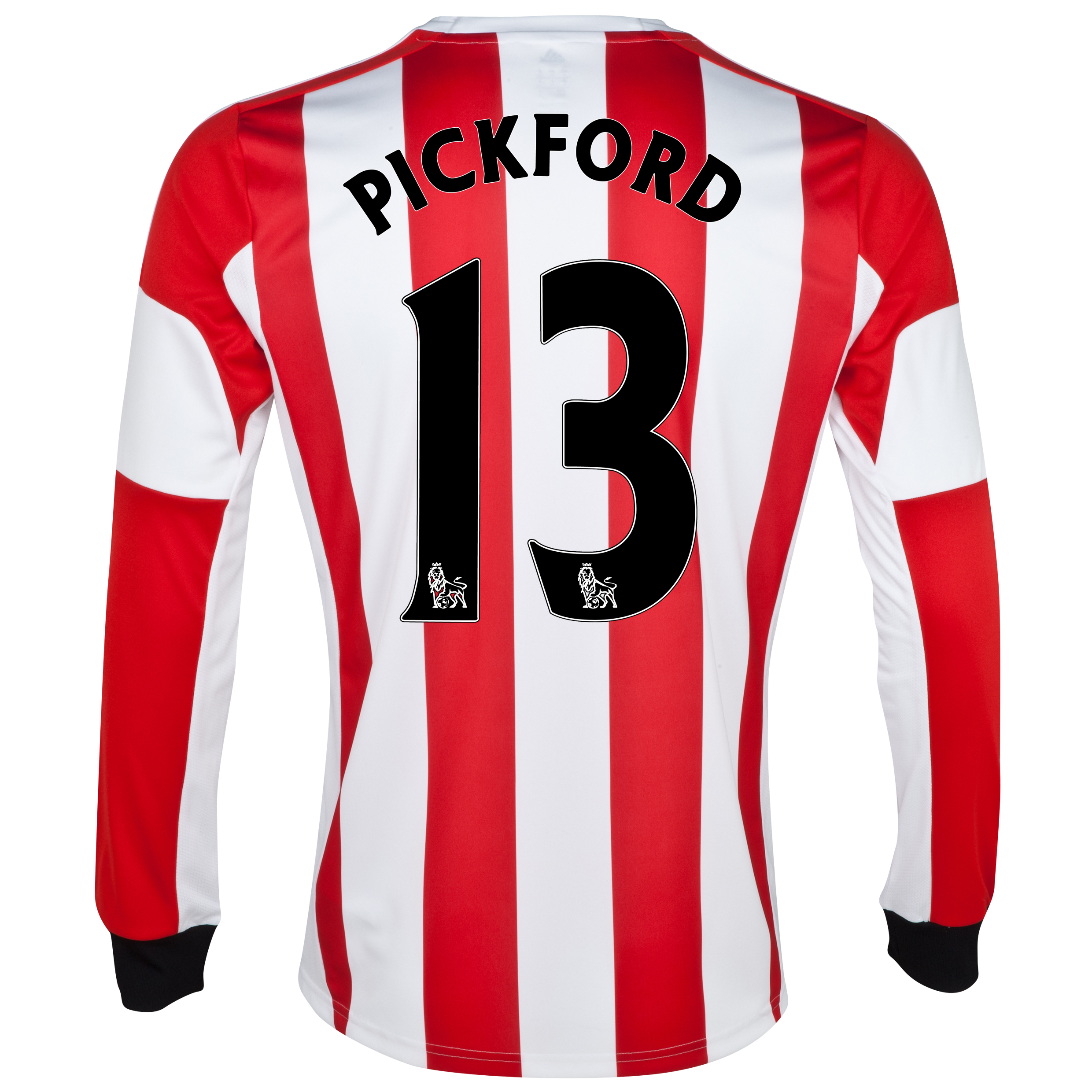 Sunderland Home Shirt 2013/14 - Long Sleeved with Pickford 13 printing