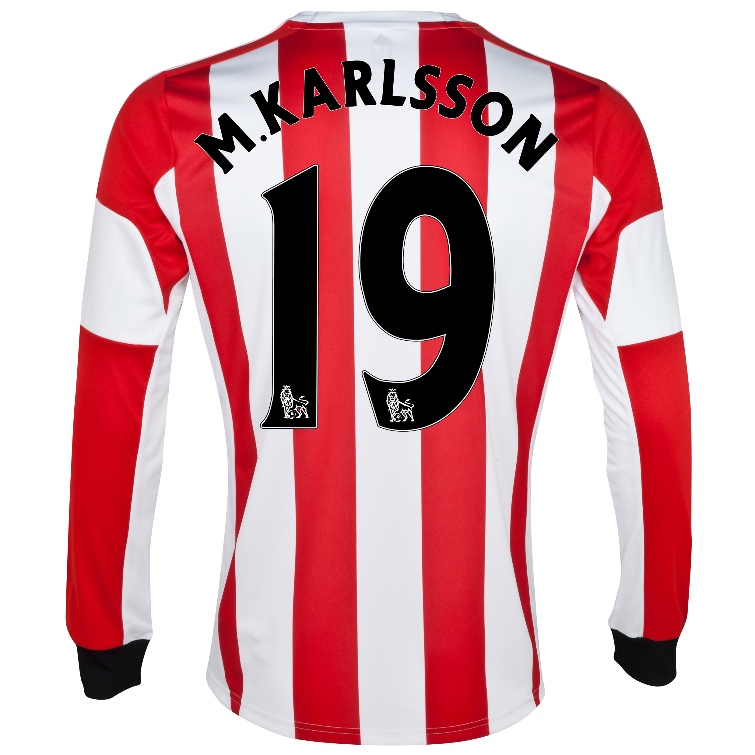 Sunderland Home Shirt 2013/14 - Long Sleeved with M.Karlsson 19 printing