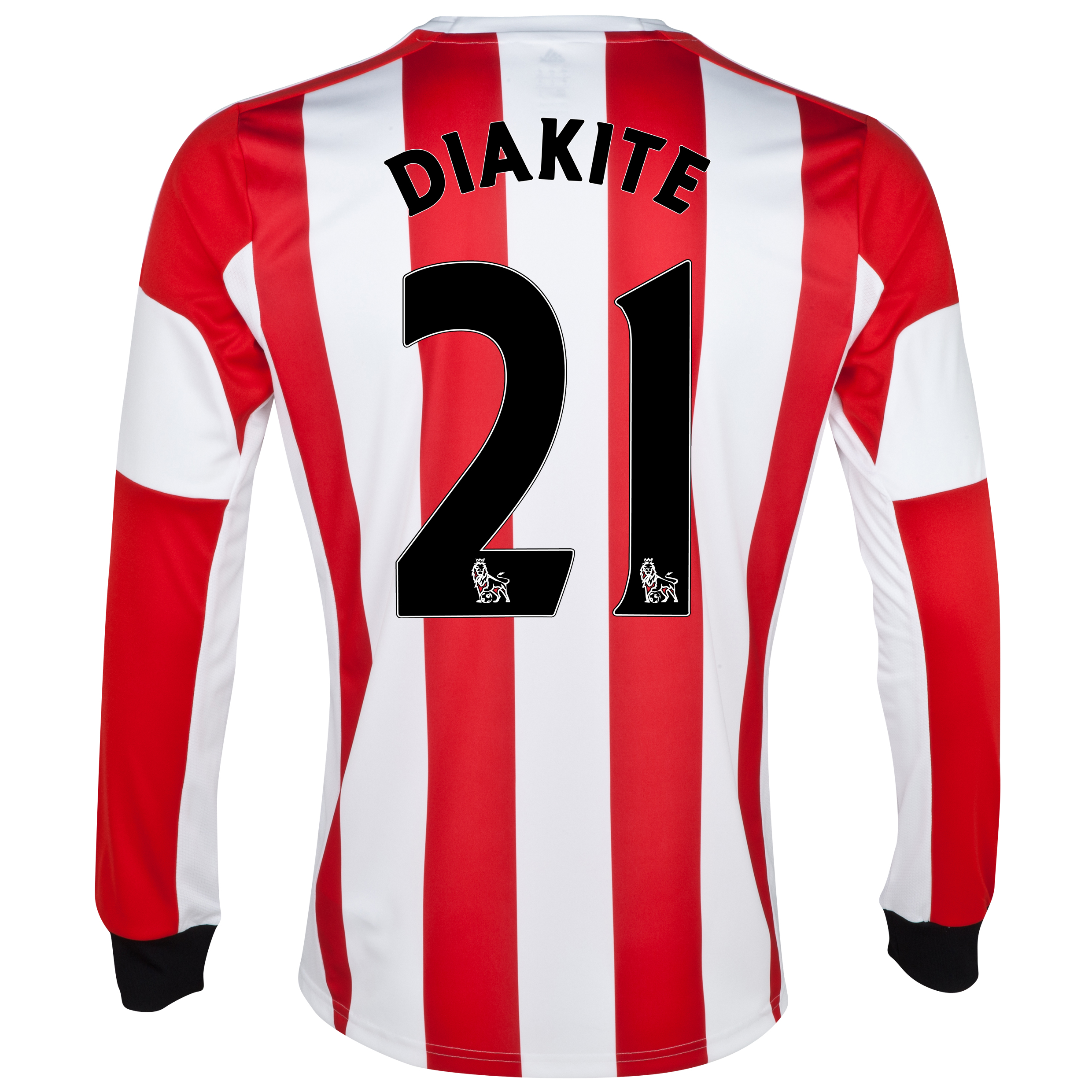 Sunderland Home Shirt 2013/14 - Long Sleeved with Diakite 21 printing