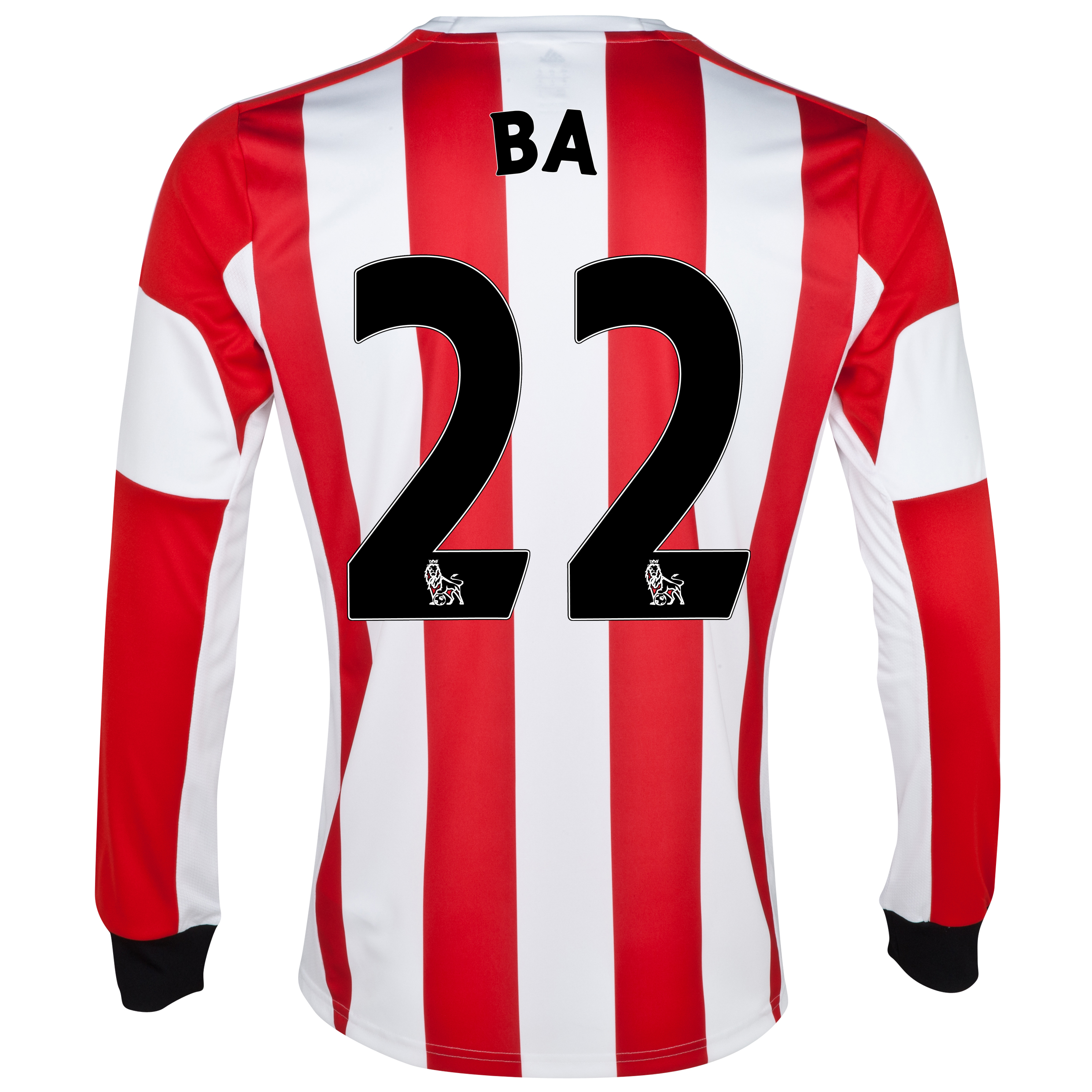 Sunderland Home Shirt 2013/14 - Long Sleeved - Junior with Ba 22 printing
