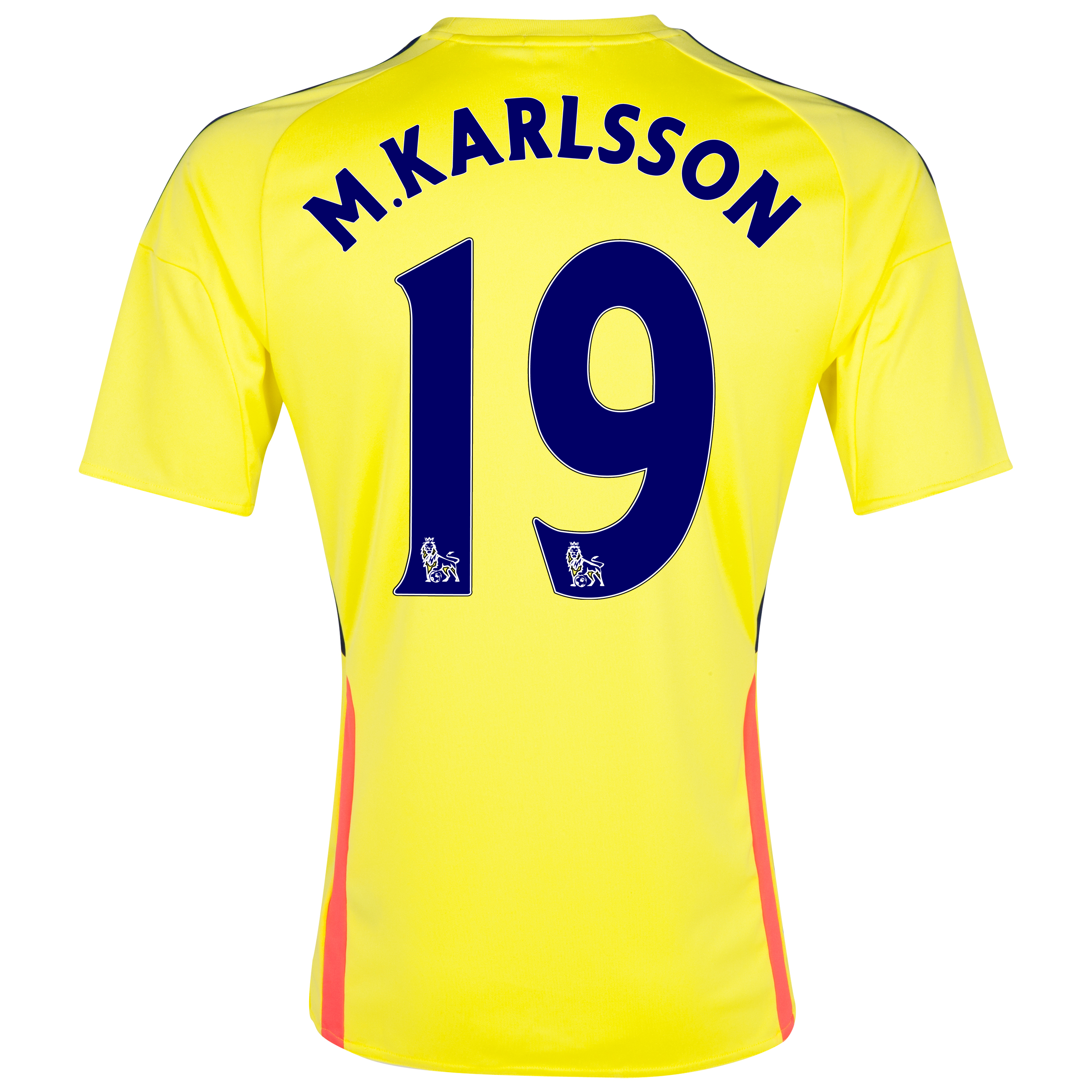 Sunderland Away Shirt 2013/14 with M.Karlsson 19 printing
