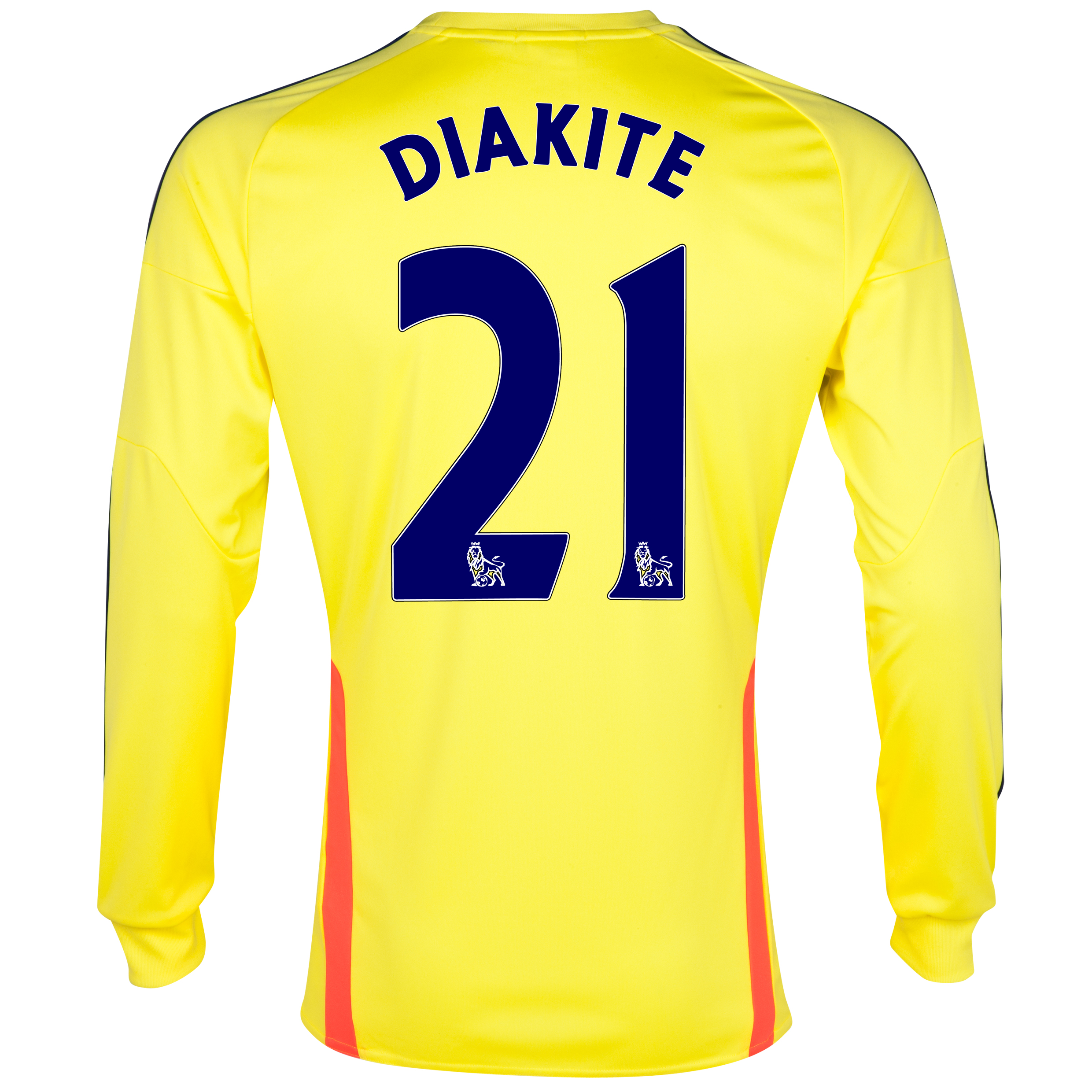 Sunderland Away Shirt 2013/14 - Long Sleeved with Diakite 21 printing