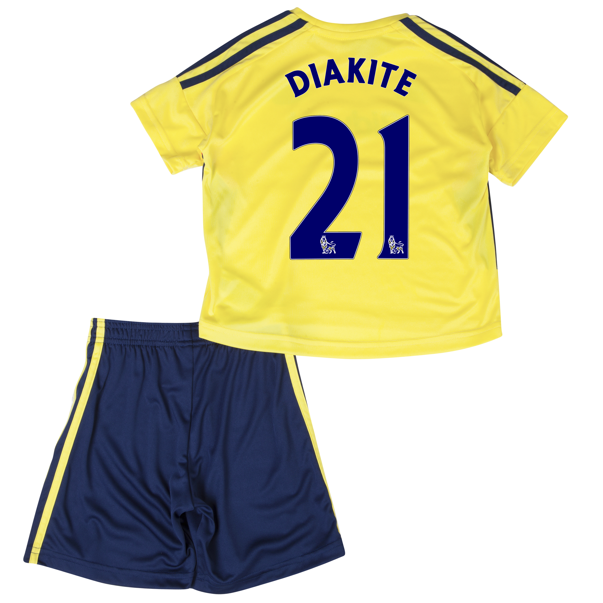 Sunderland Away Minikit 2013/14 - Infants with Diakite 21 printing